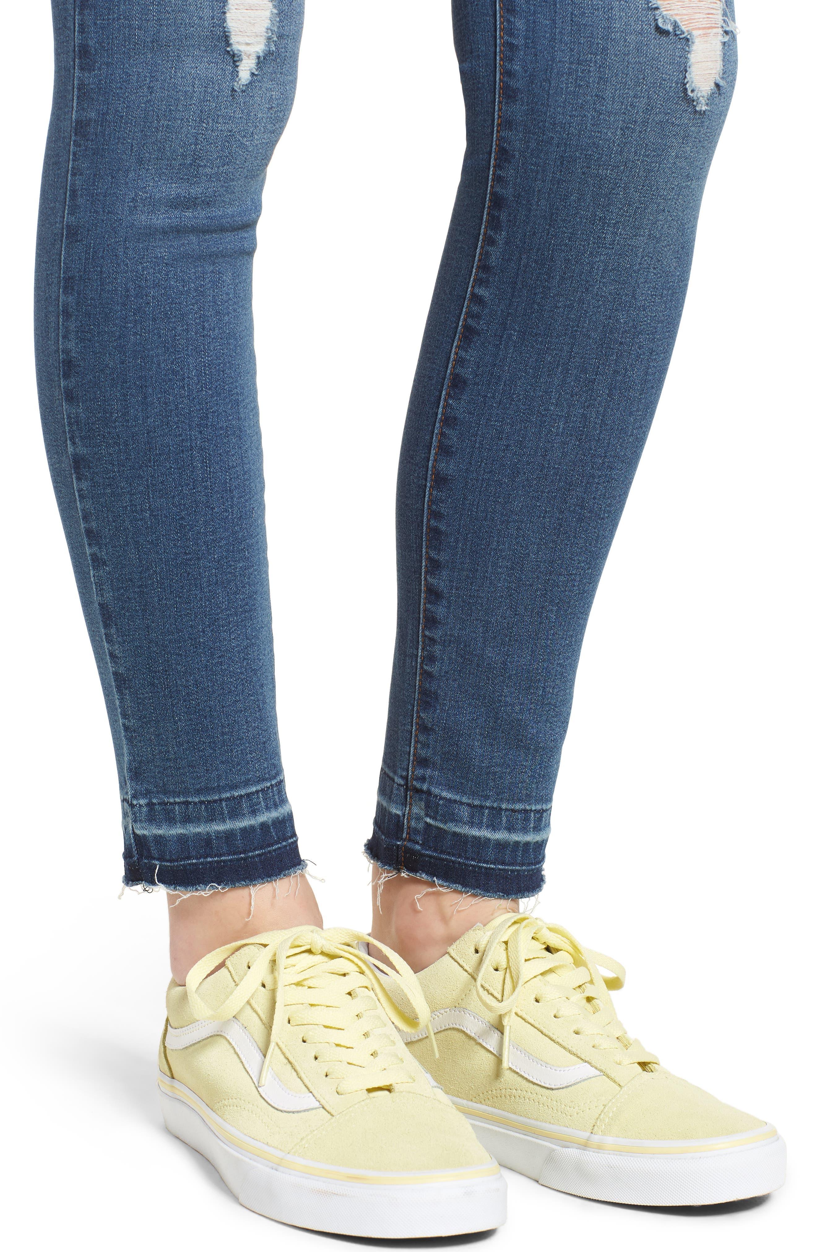 Release Hem Skinny Jeans,                             Alternate thumbnail 4, color,                             Pretty