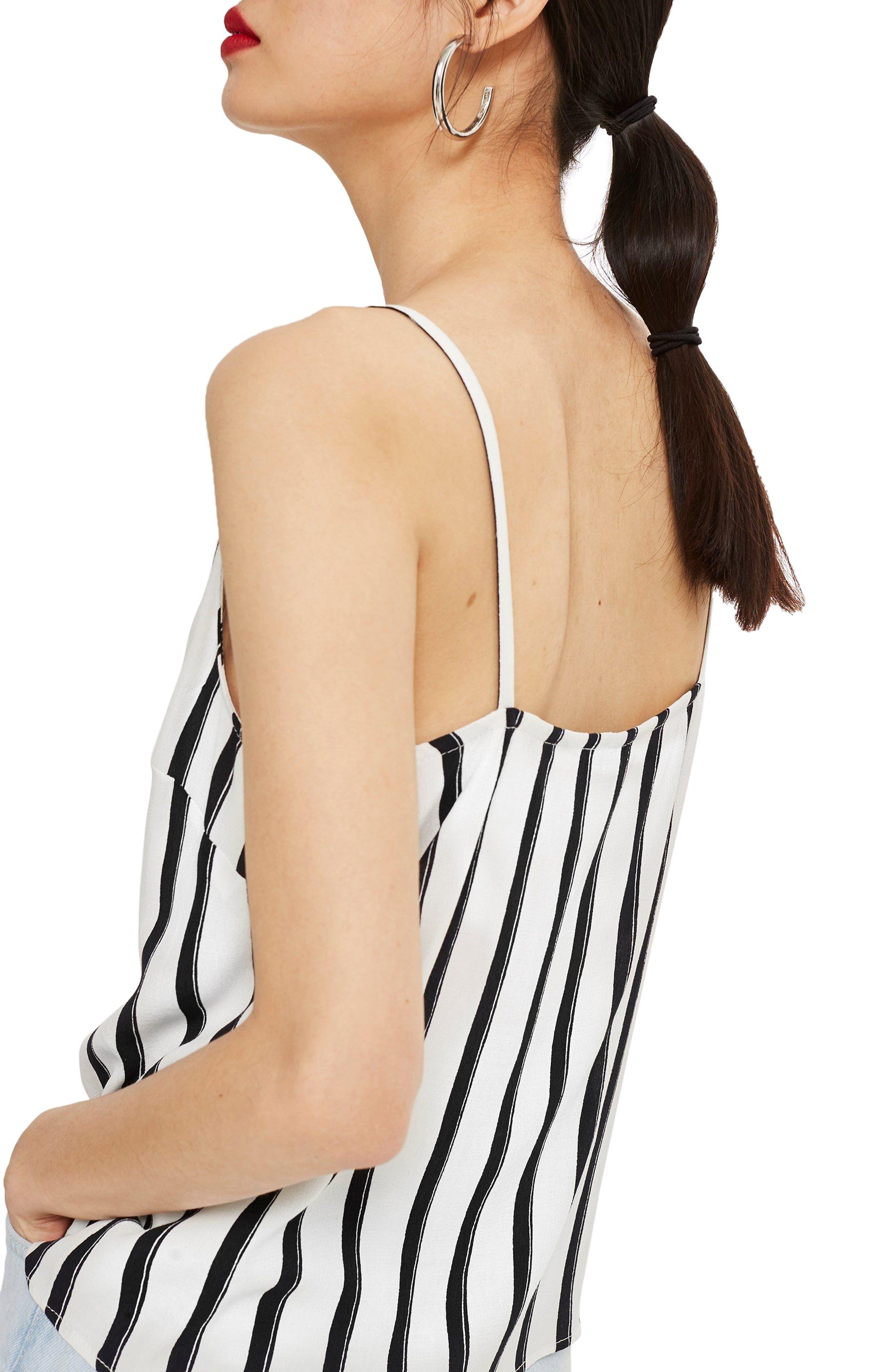 Stripe Camisole,                             Alternate thumbnail 2, color,                             White Multi