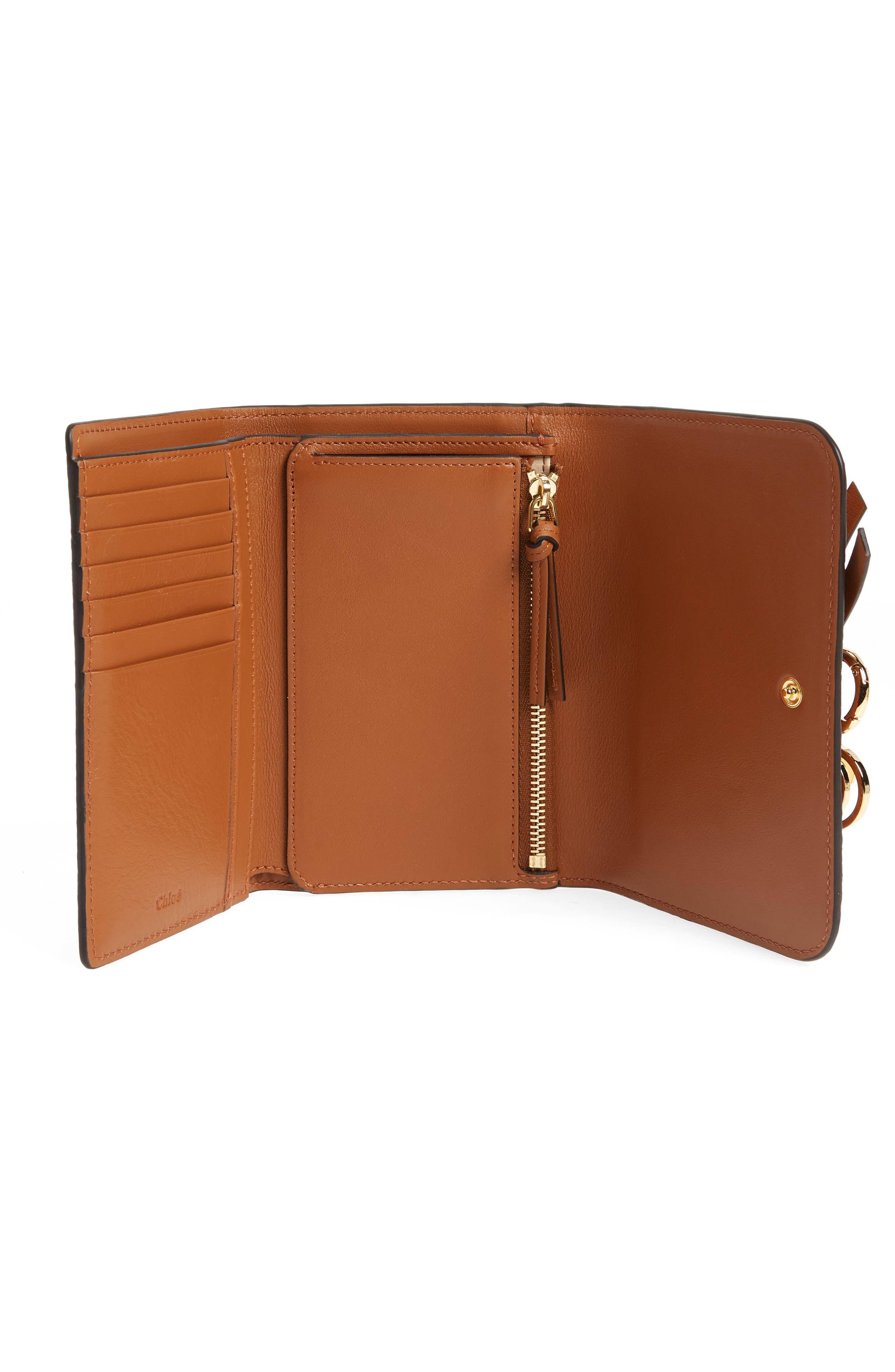 Alphabet Leather Wallet,                             Alternate thumbnail 2, color,                             Tan