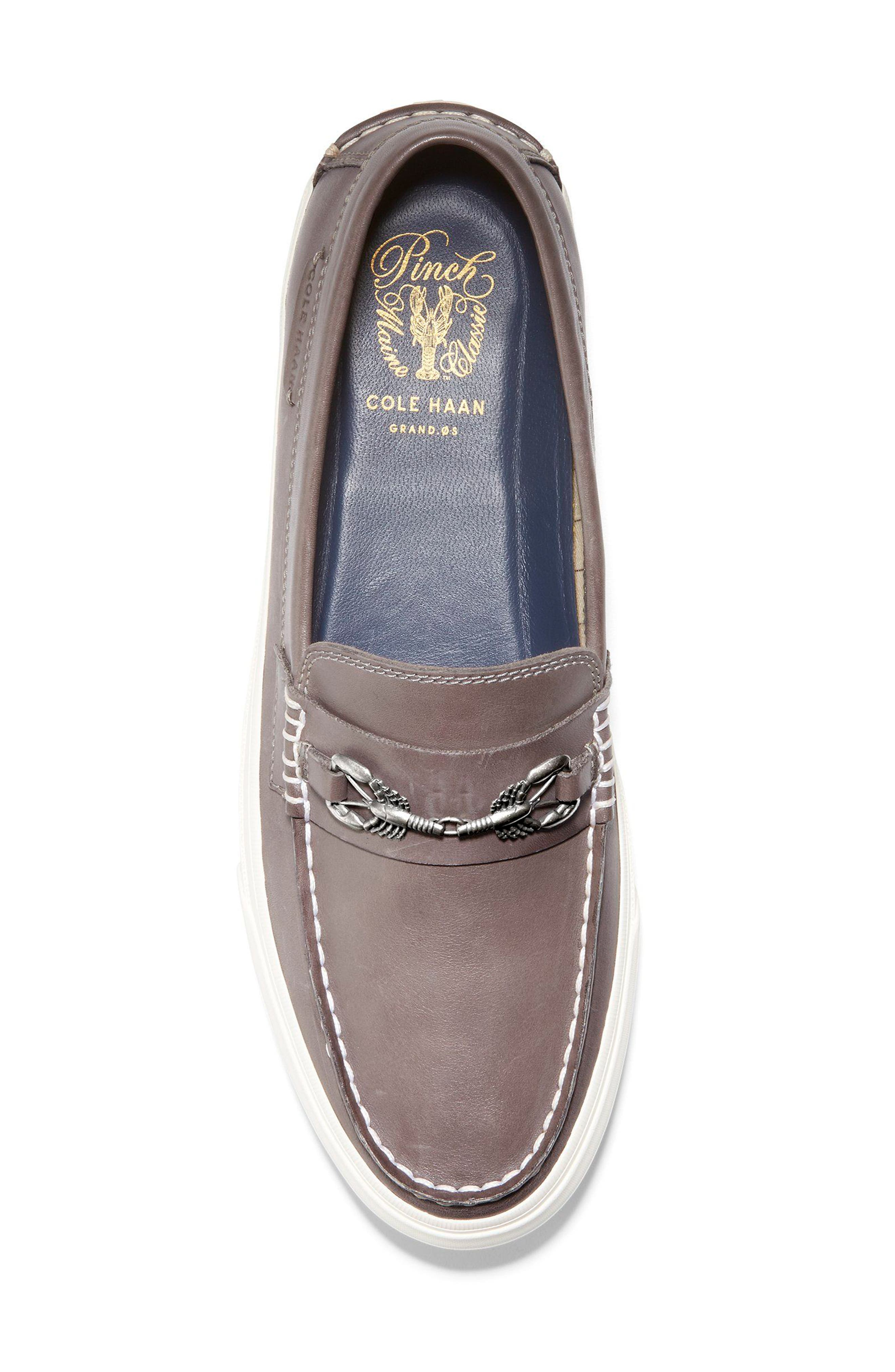Pinch Weekend Loafer,                             Alternate thumbnail 4, color,                             Stormcloud Handstain