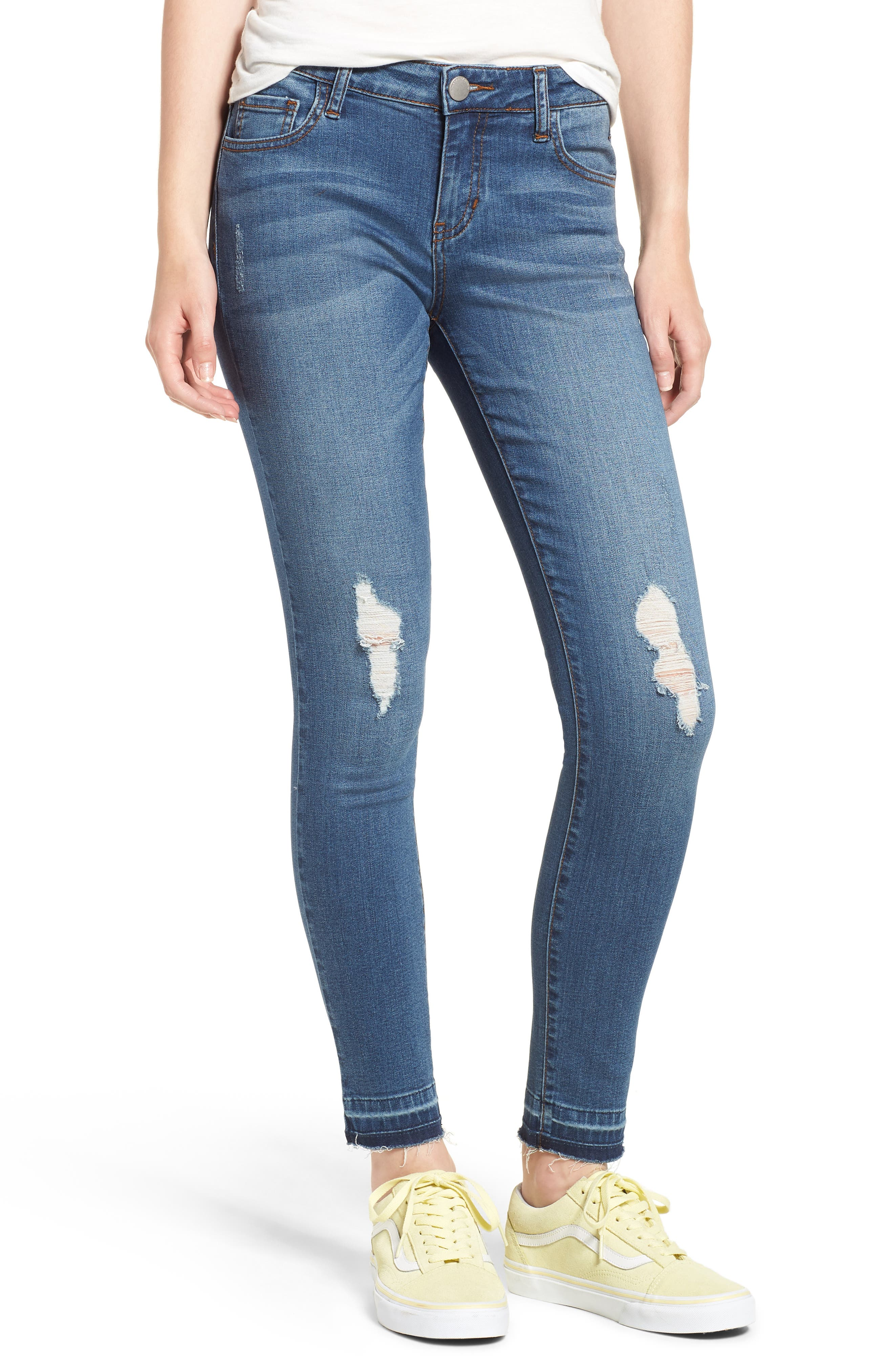 Release Hem Skinny Jeans,                         Main,                         color, Pretty