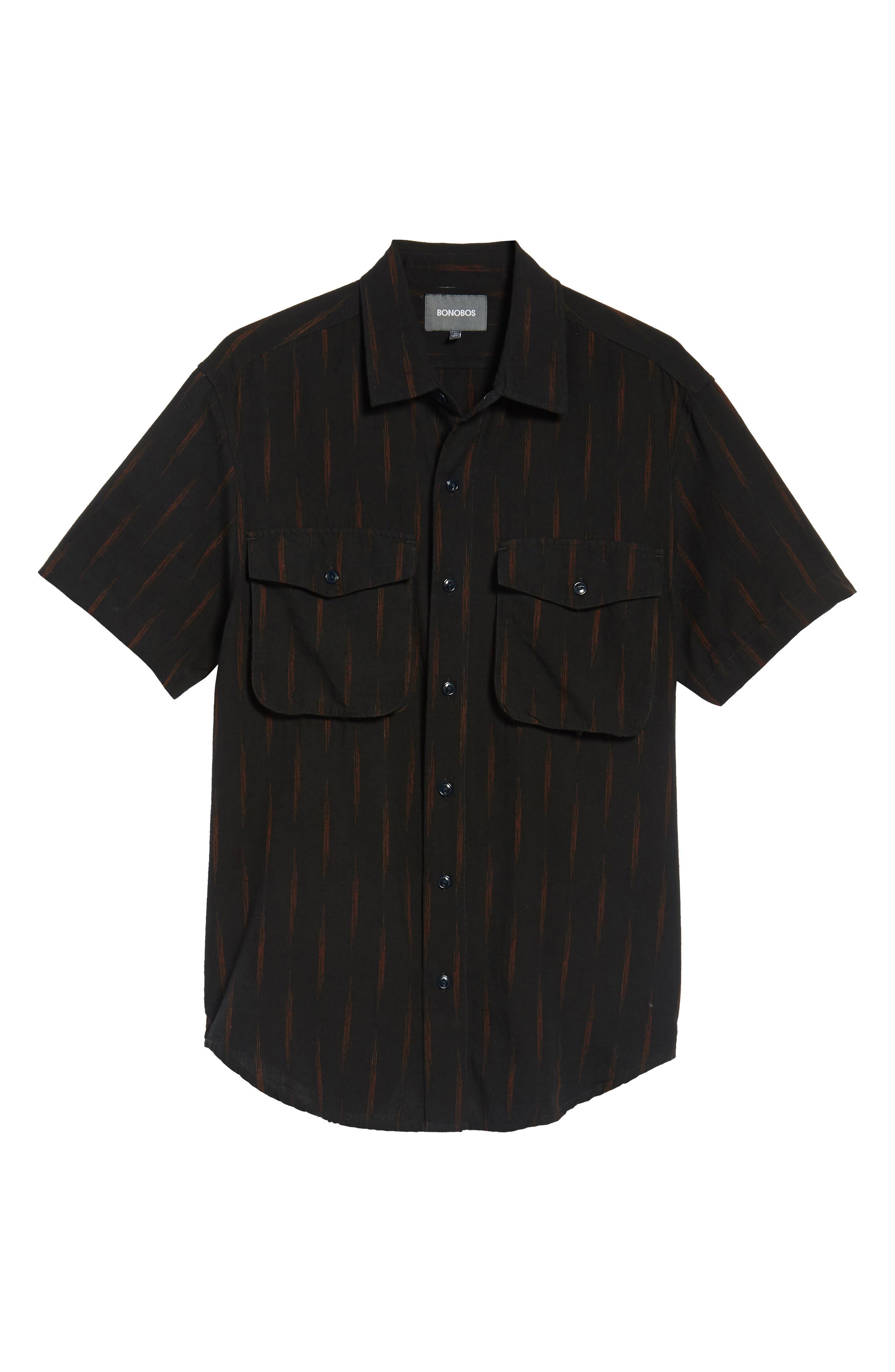 Limited Edition Slim Fit Short Sleeve Sport Shirt,                             Alternate thumbnail 6, color,                             Rio Grande - Gold Rush