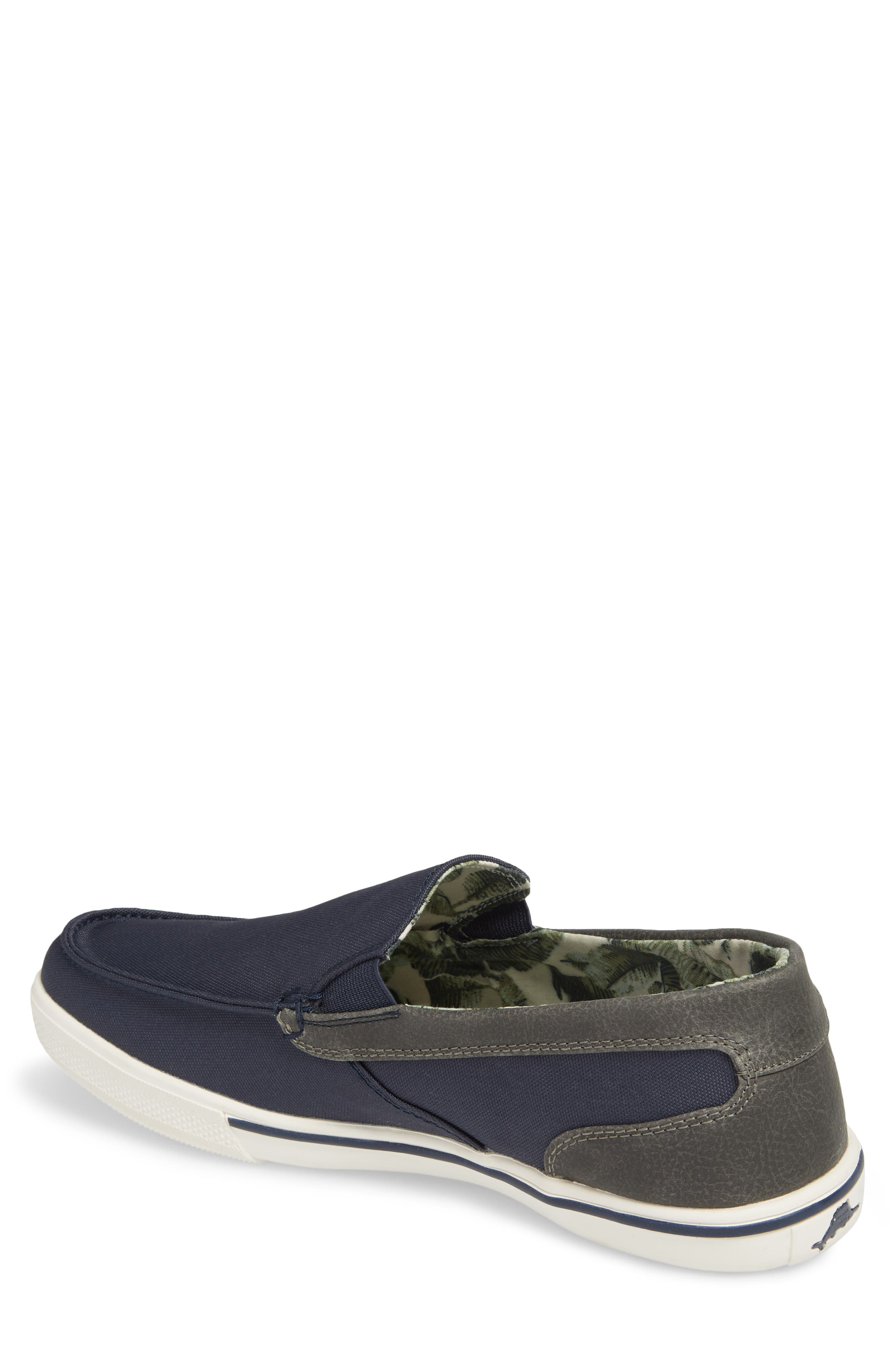 Calderon Loafer,                             Alternate thumbnail 2, color,                             Navy Canvas/ Leather