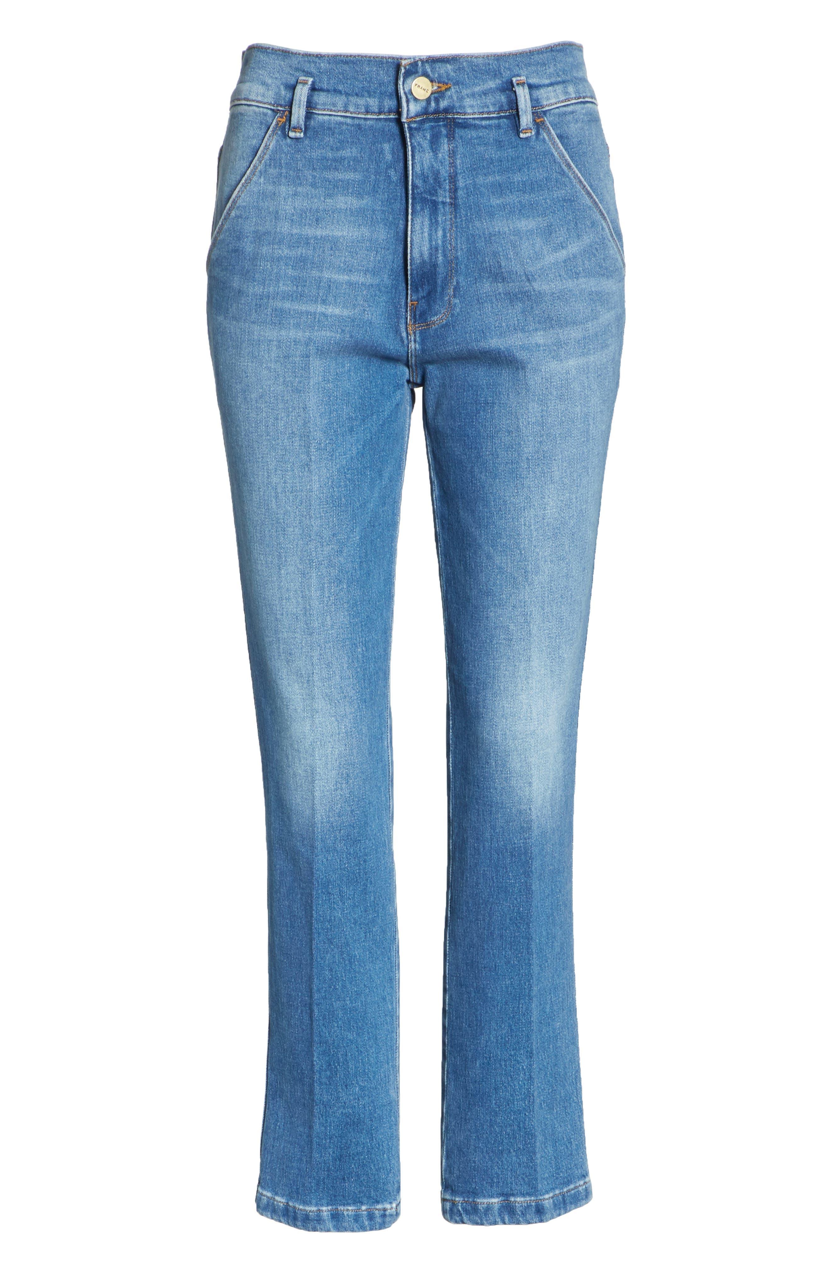 Le Slender Straight Leg Jeans,                             Alternate thumbnail 7, color,                             Thistle