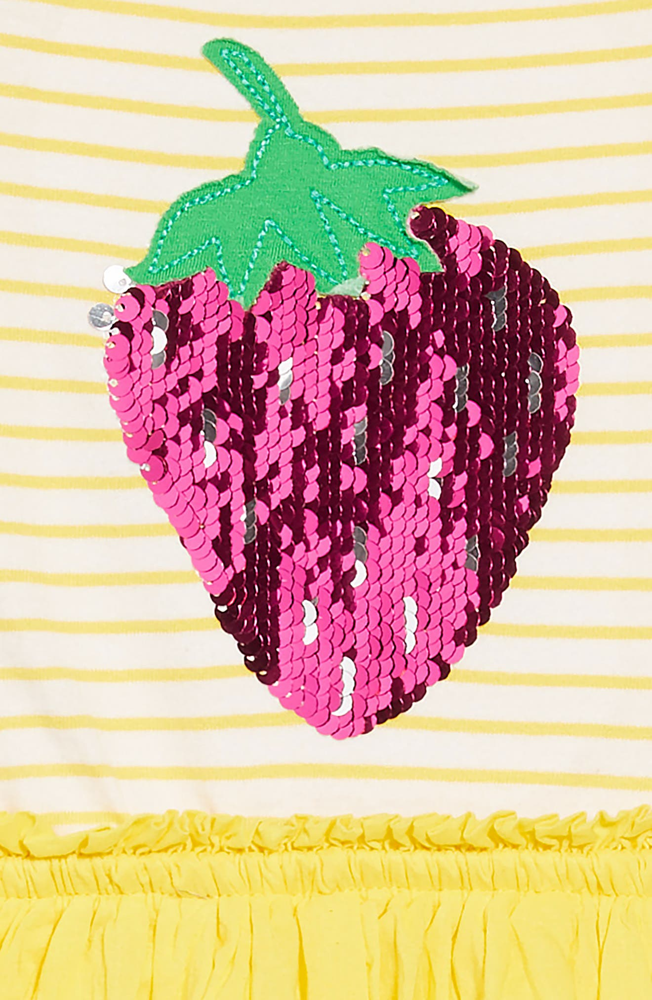 Color Change Sequin Strawberry Dress,                             Alternate thumbnail 4, color,                             Sunshine Yellow Strawberry