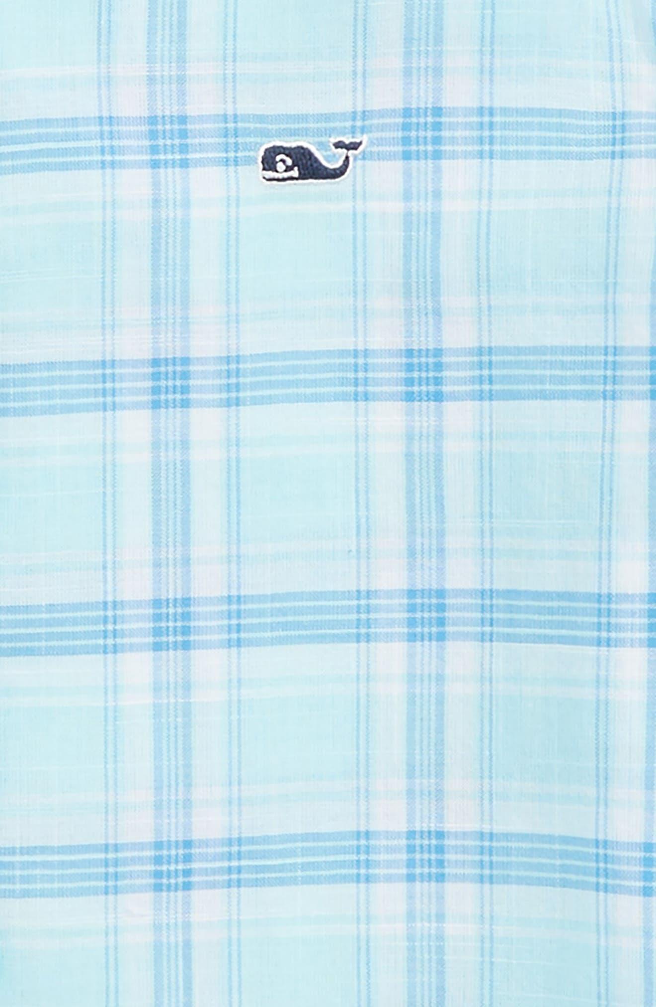 Plaid Flannel Whale Shirt,                             Alternate thumbnail 2, color,                             Poolside