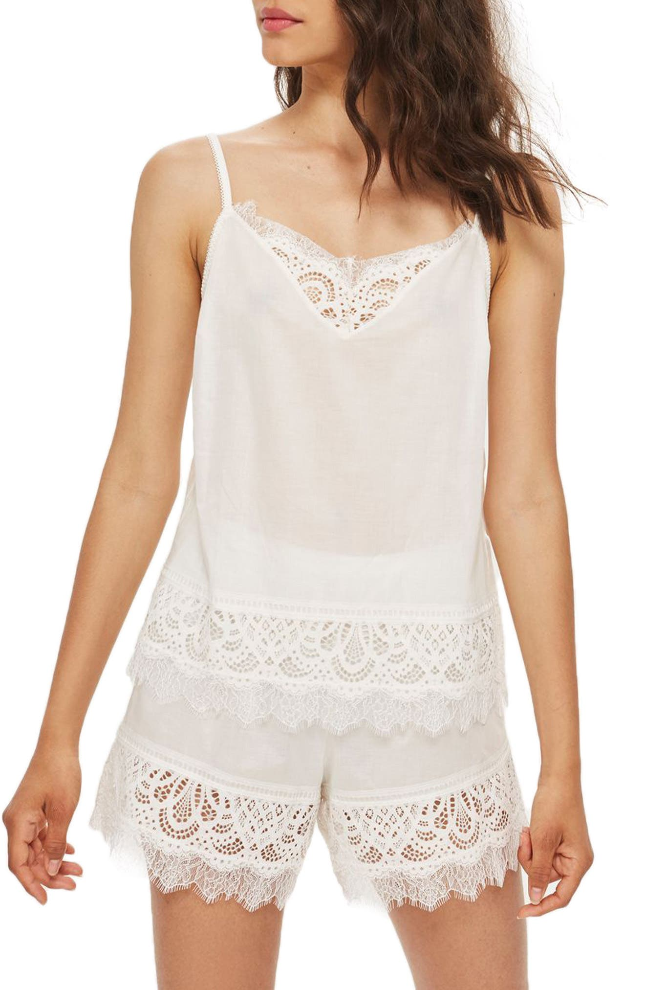 Lydia Lace Camisole by Topshop