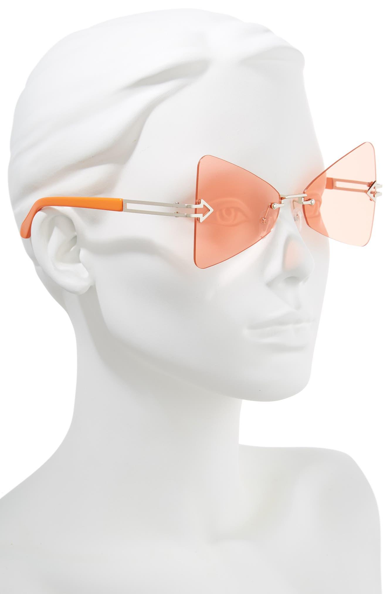 Paradise 57mm Sunglasses,                             Alternate thumbnail 2, color,                             Tangerine/ Coral