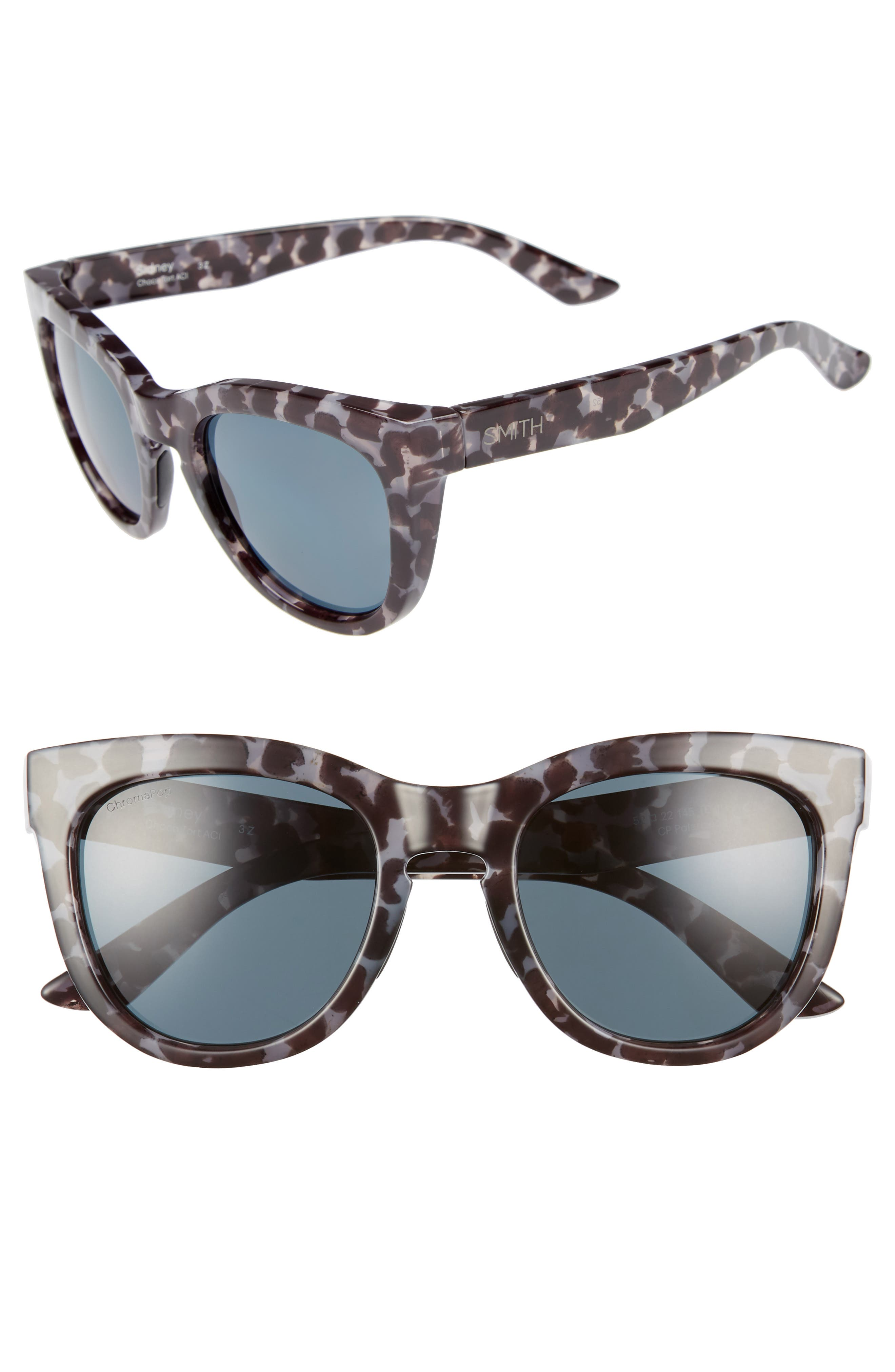 SMITH 'SIDNEY' 55MM POLARIZED SUNGLASSES - CHOCOLATE TORTOISE