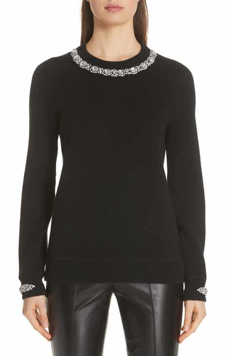 dbf1fc35e7 Michael Kors Embellished Cashmere   Cotton Blend Sweater