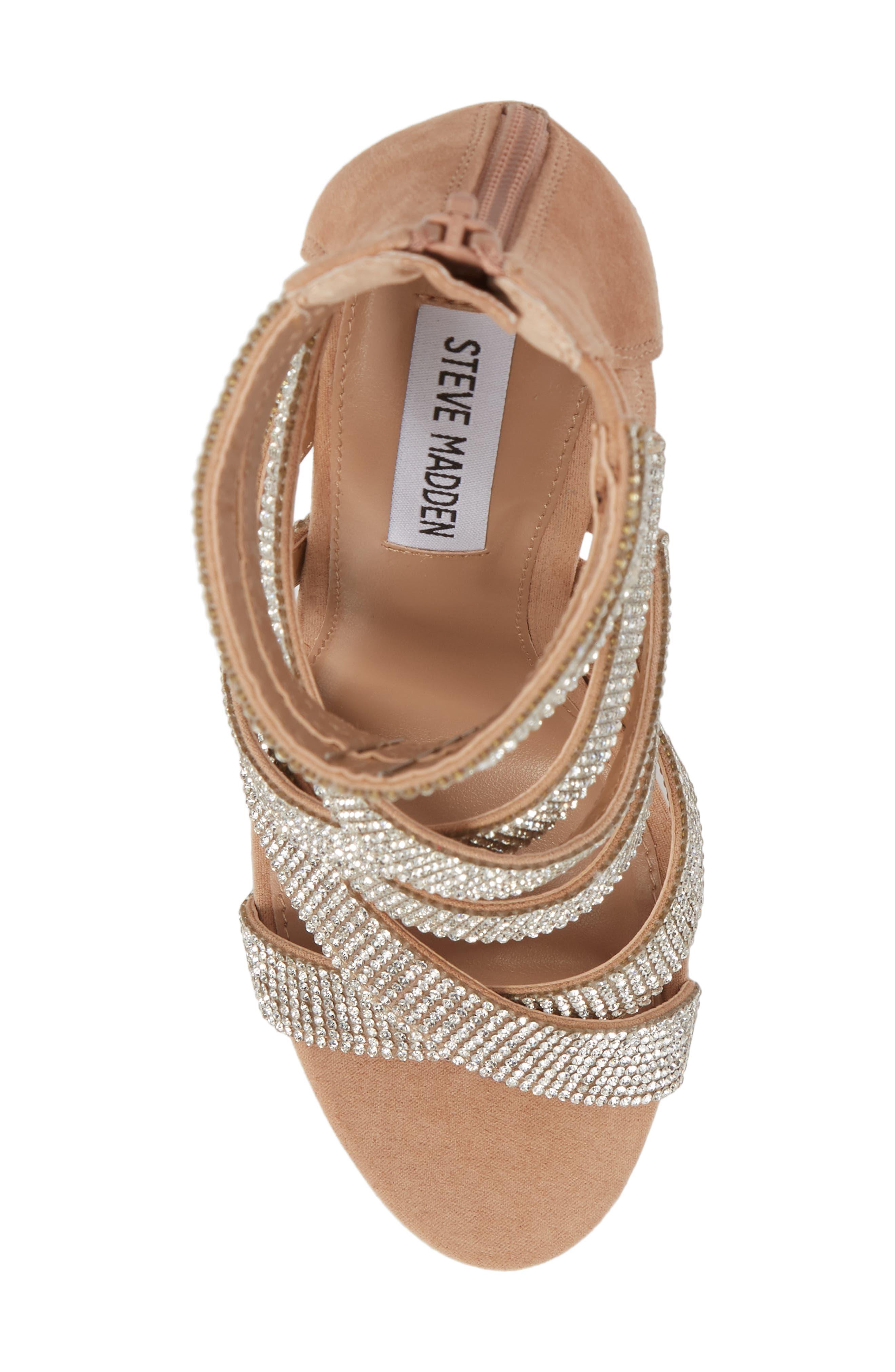 Malika Crystal Embellished Sandal,                             Alternate thumbnail 3, color,                             Rhinestone