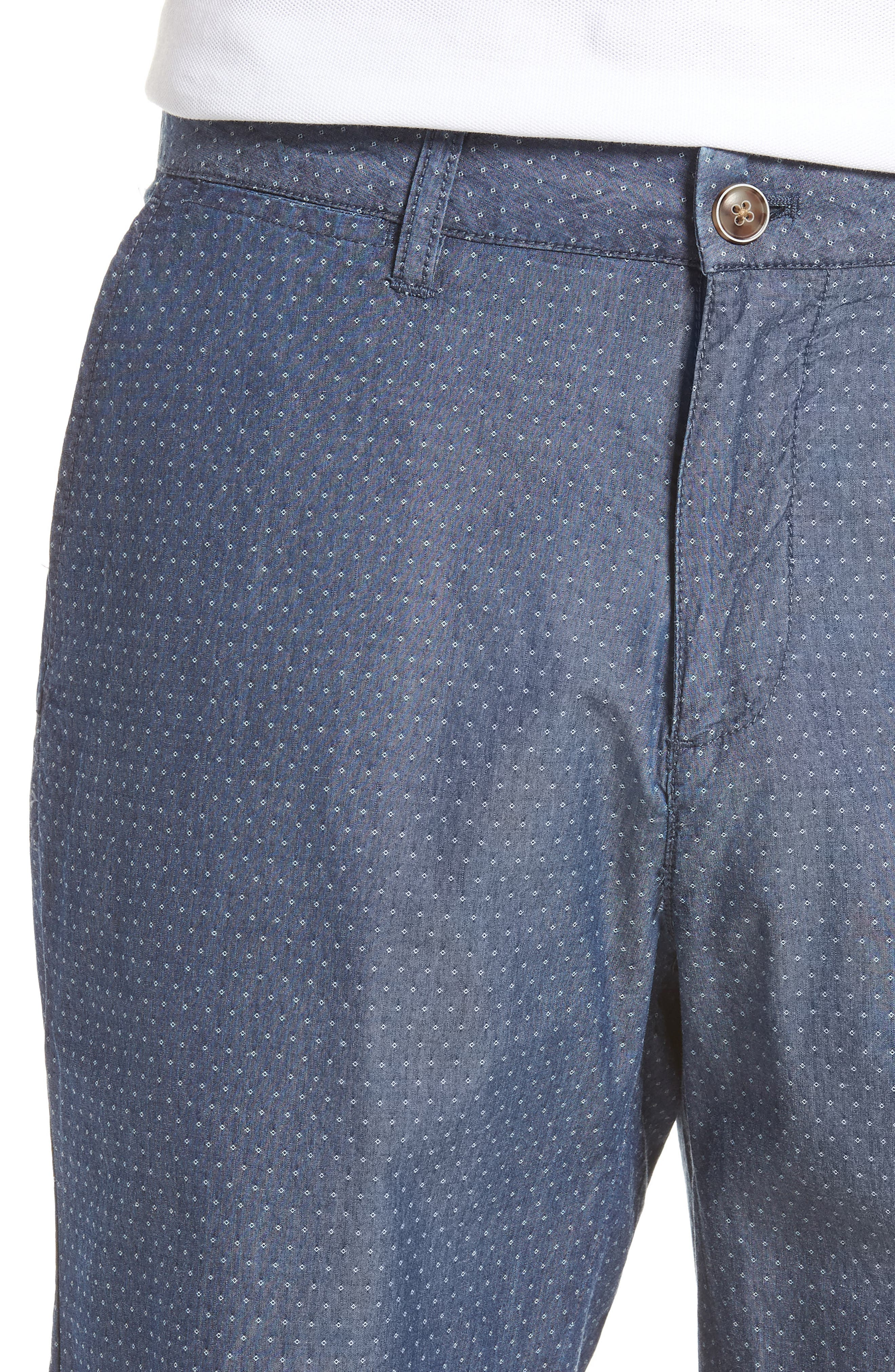 Oliver Classic Fit Chambray Jacquard Shorts,                             Alternate thumbnail 4, color,                             Chambray