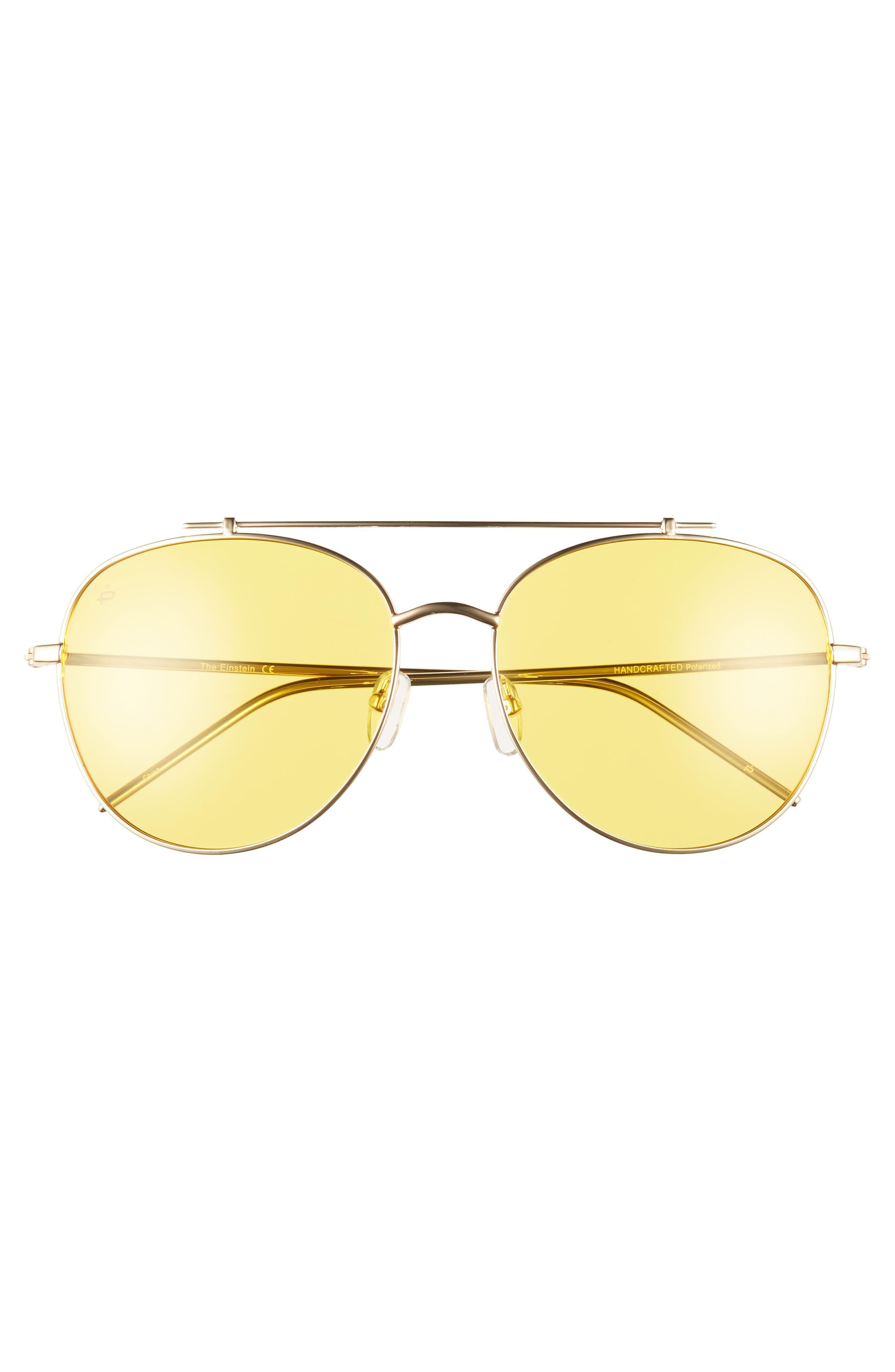 Privé Revaux The Einstein 58mm Polarized Aviator Sunglasses,                             Alternate thumbnail 2, color,                             Yellow