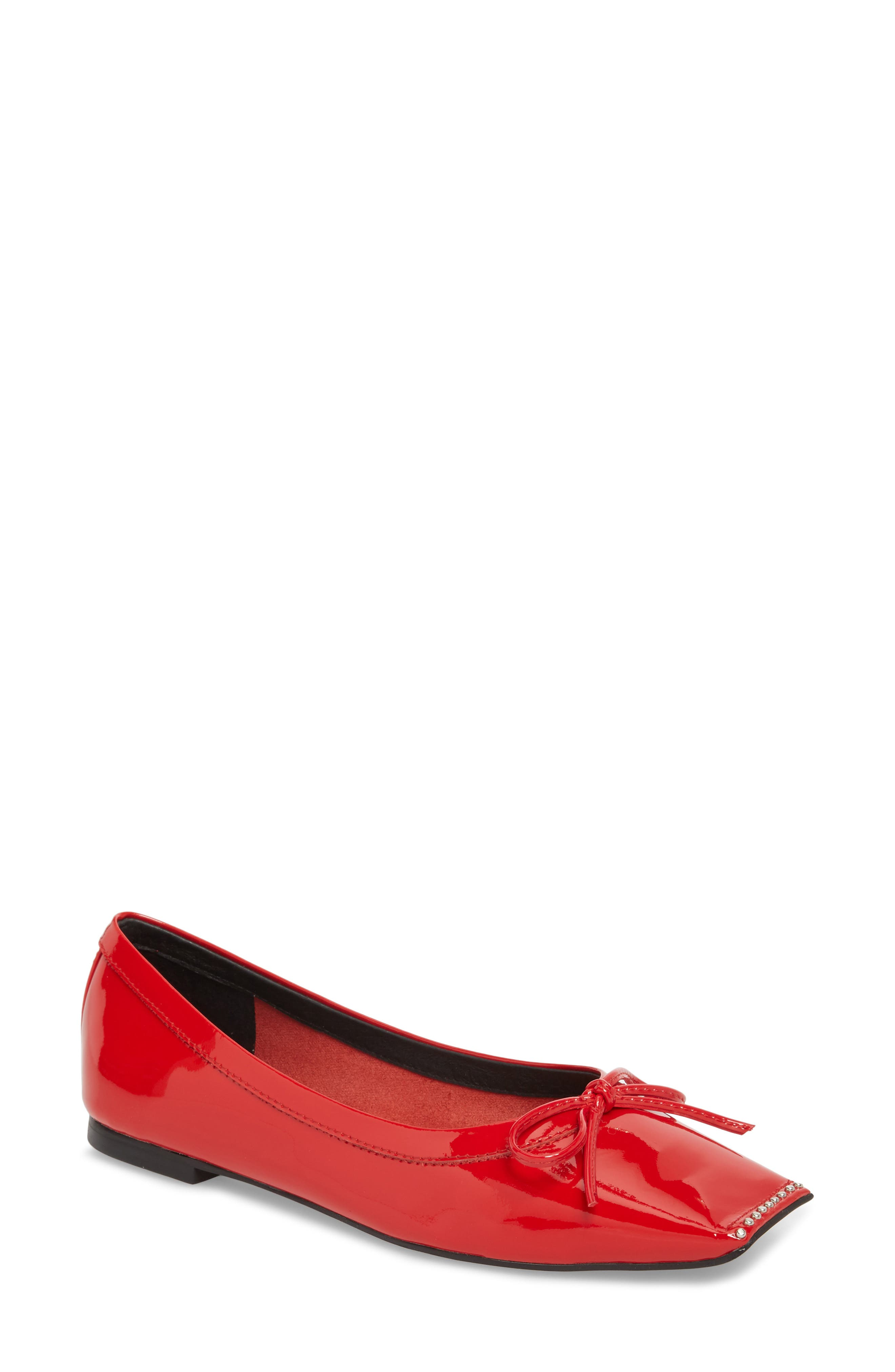 Achira Flat,                         Main,                         color, Red Patent Leather