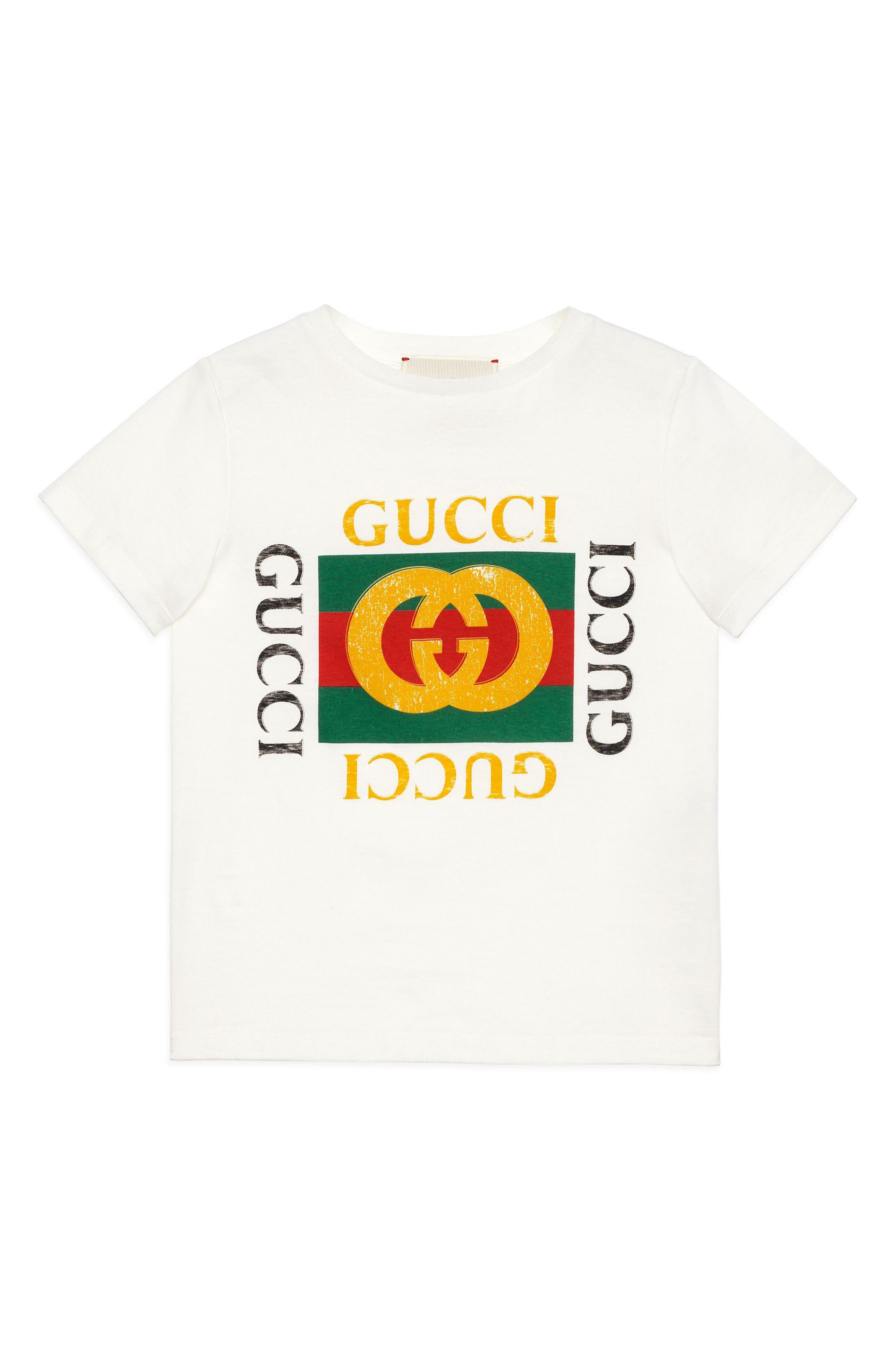 Logo Graphic T-Shirt,                             Main thumbnail 1, color,                             White Multi