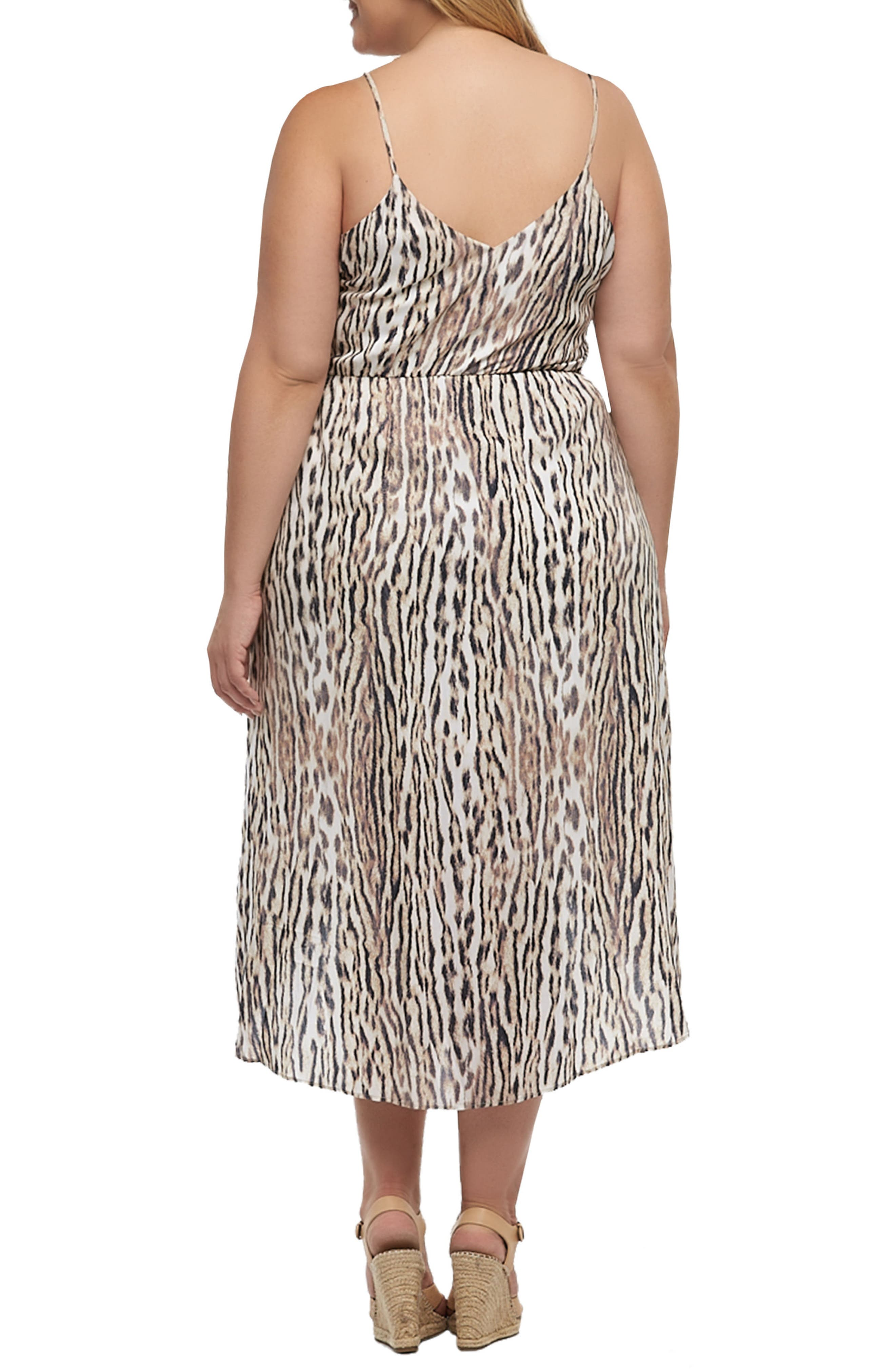Josefa Faux Wrap Dress,                             Alternate thumbnail 2, color,                             Ocelot