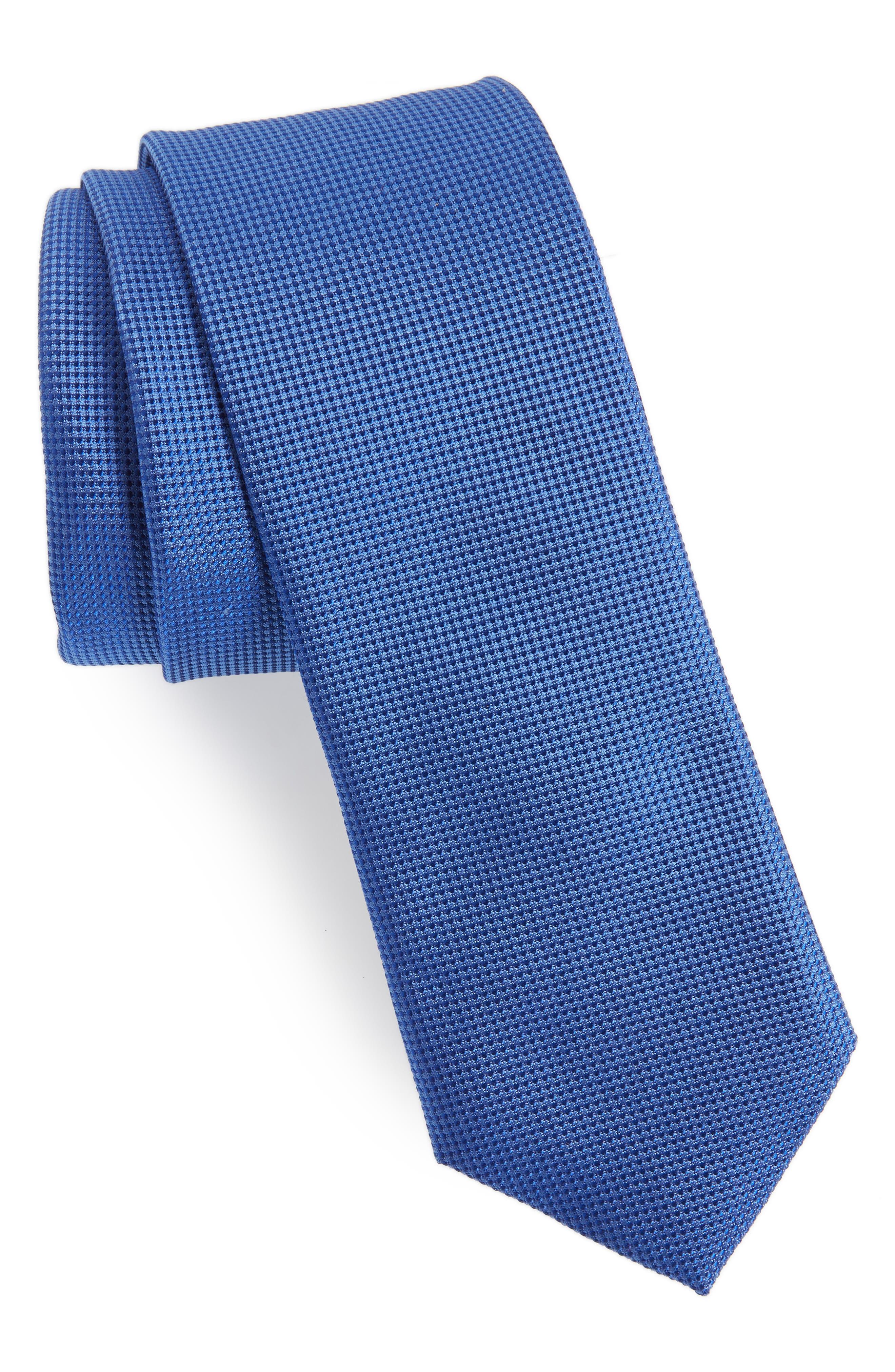 Jameswood Silk Tie,                         Main,                         color, Blue