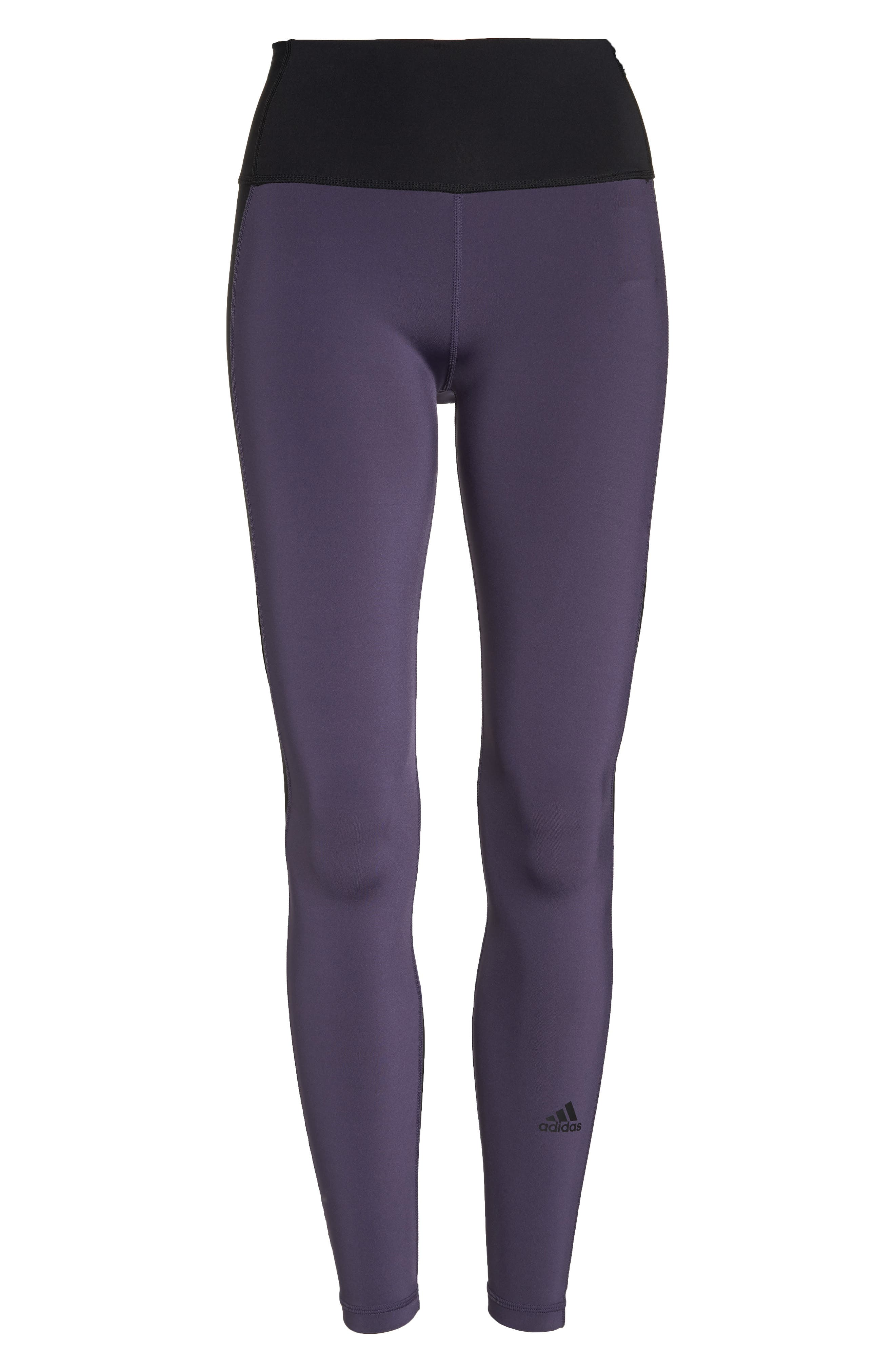 Believe This High Waist Tights,                             Alternate thumbnail 6, color,                             Trace Purple