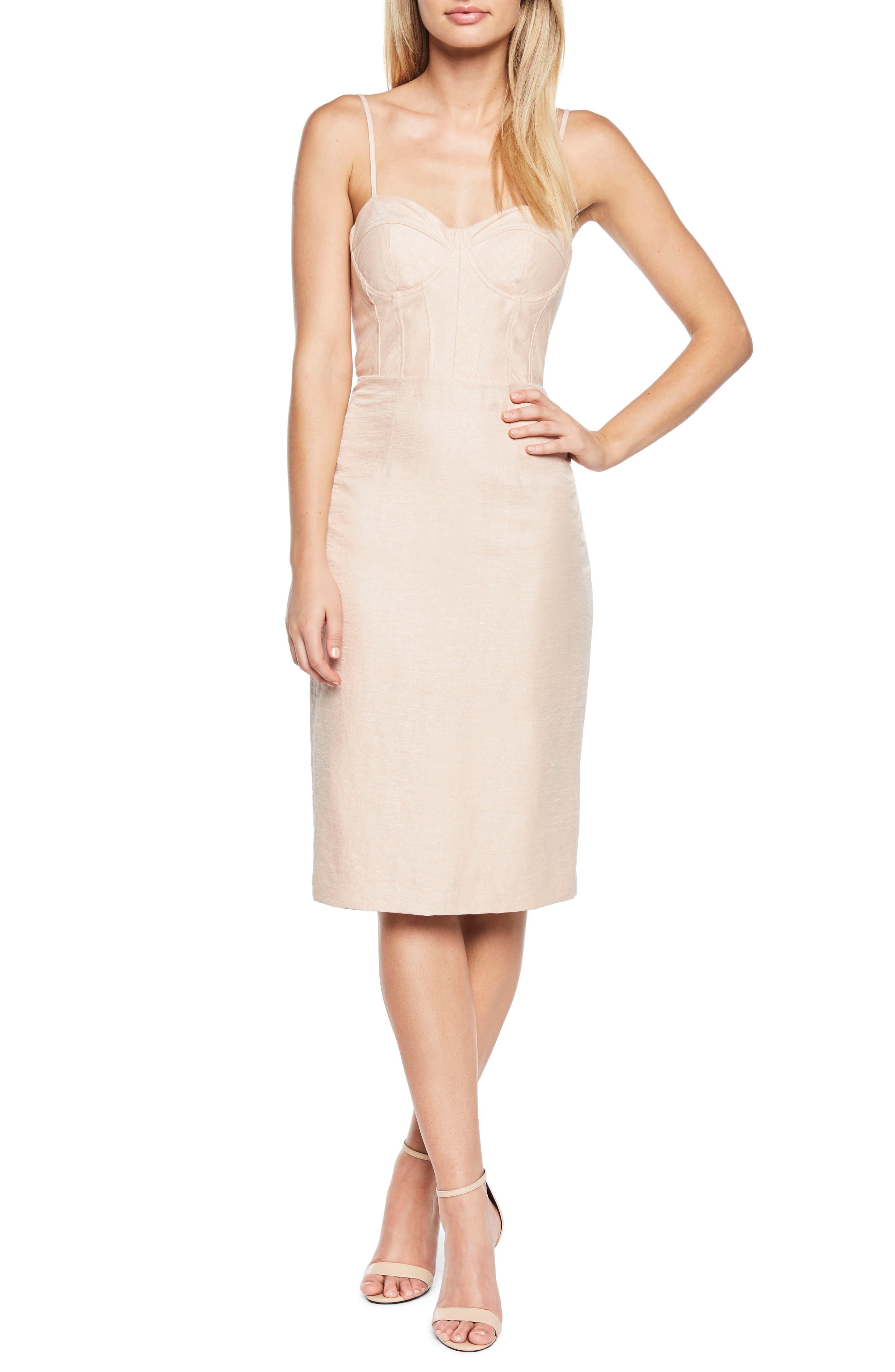 Esta Corset Dress,                             Main thumbnail 1, color,                             Prosecco