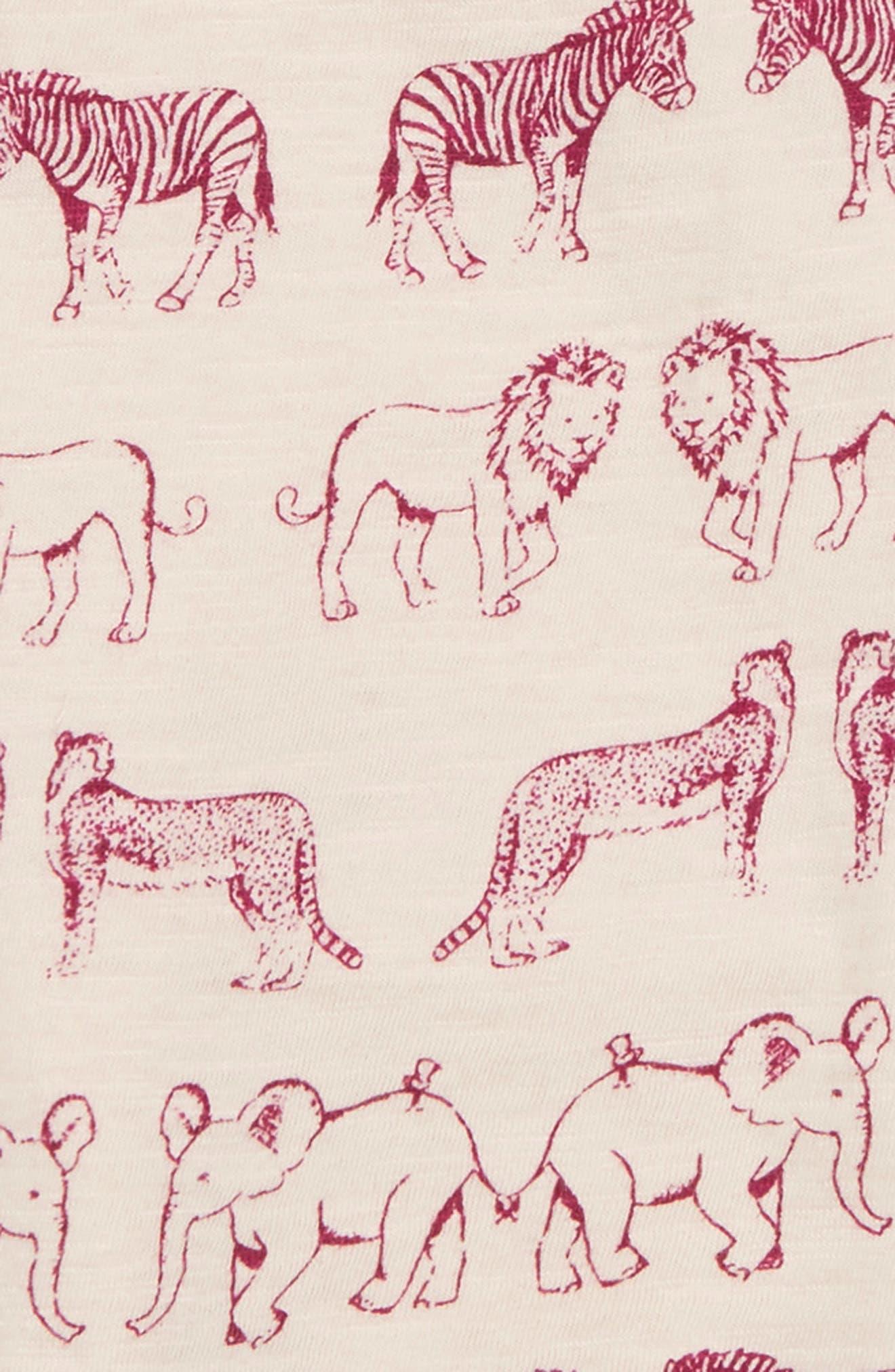 Animal Print Tee,                             Alternate thumbnail 2, color,                             Cream