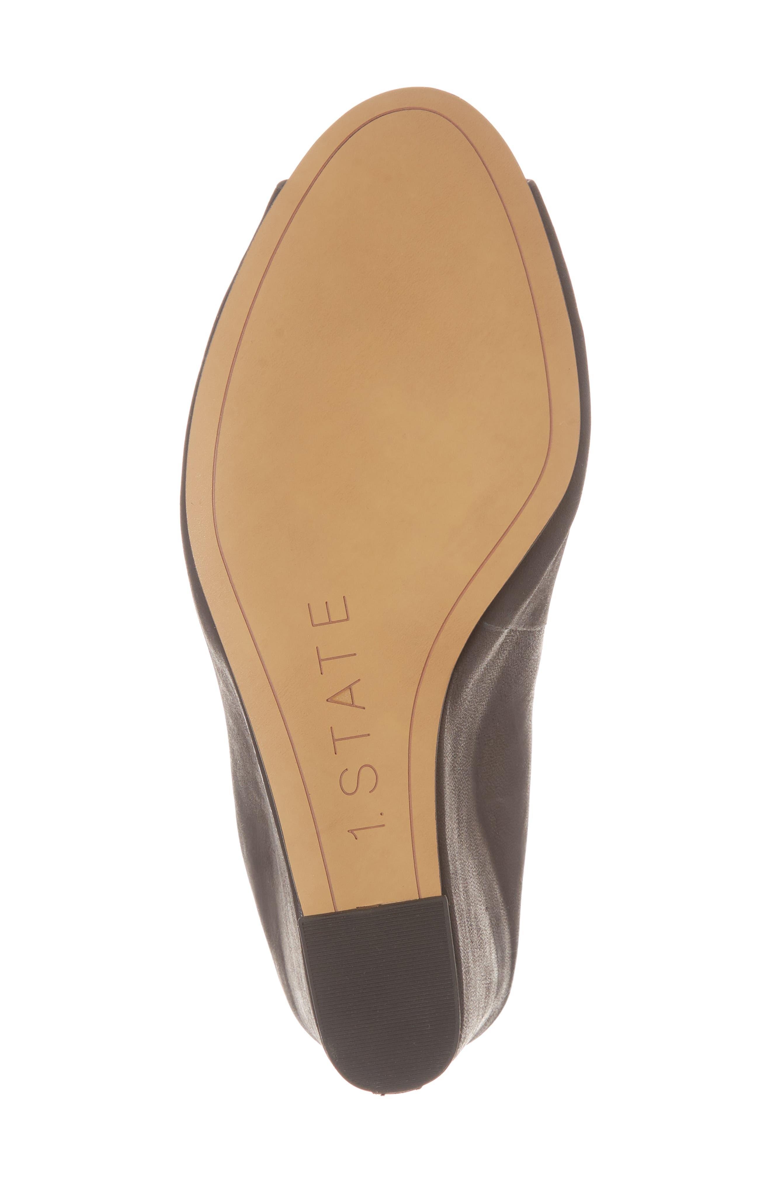 Felidia Wedge Sandal,                             Alternate thumbnail 6, color,                             Black Leather