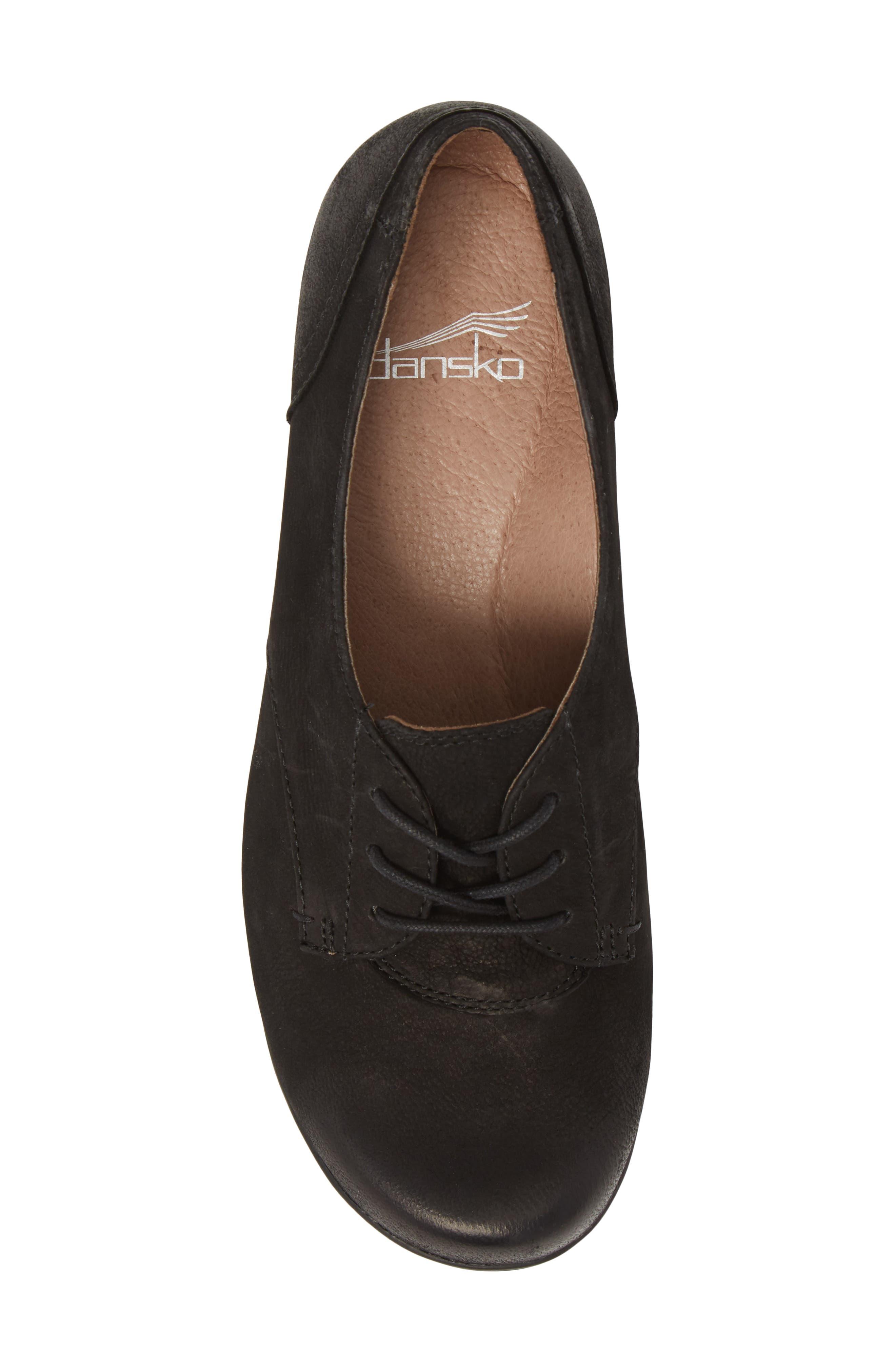 Fallon Derby,                             Alternate thumbnail 3, color,                             Black Burnished Nubuck Leather