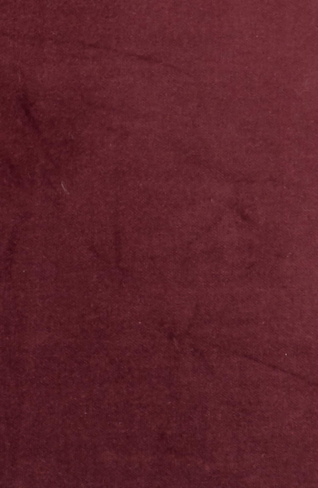 Velvet Accent Pillow,                             Alternate thumbnail 2, color,                             Burgundy