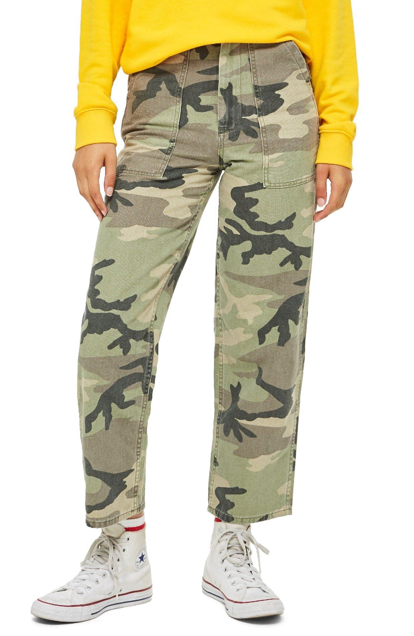 Sonny Camouflage Utility Trousers by Topshop
