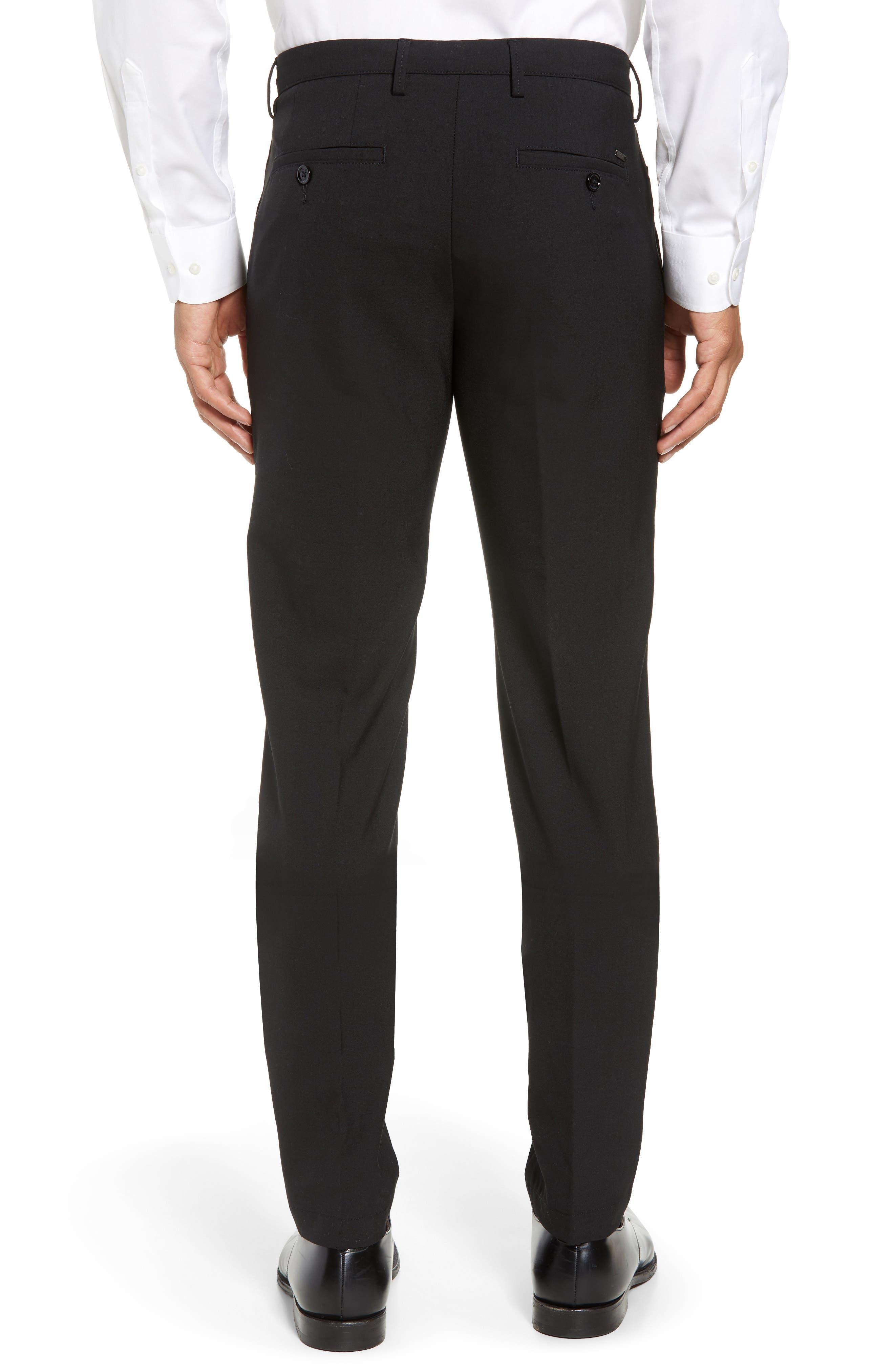 Kaito Slim Fit Trousers,                             Alternate thumbnail 2, color,                             Black