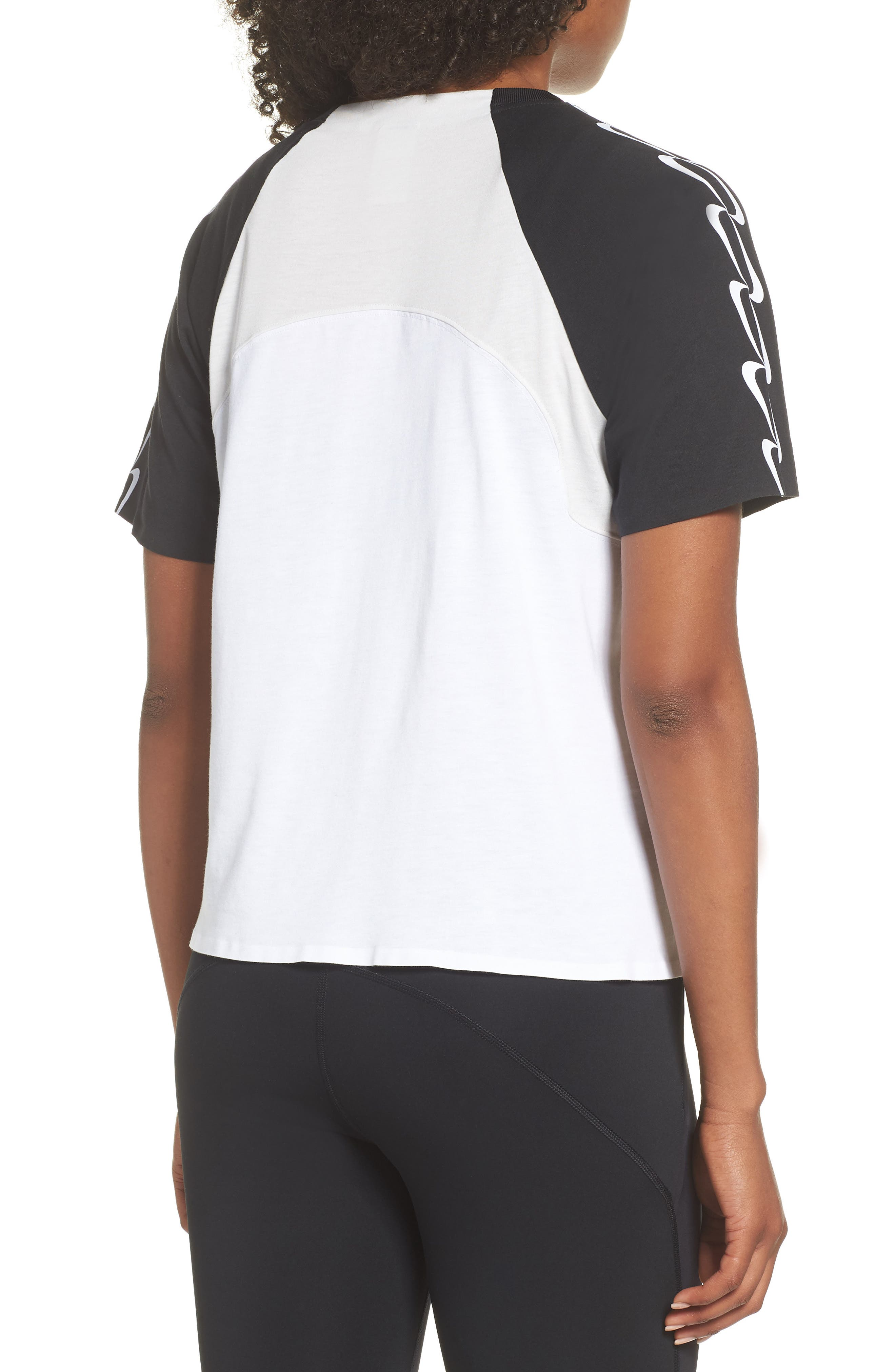 NRG Women's Dri-FIT Short Sleeve Top,                             Alternate thumbnail 2, color,                             Black/ White/ Vast Grey/ Black