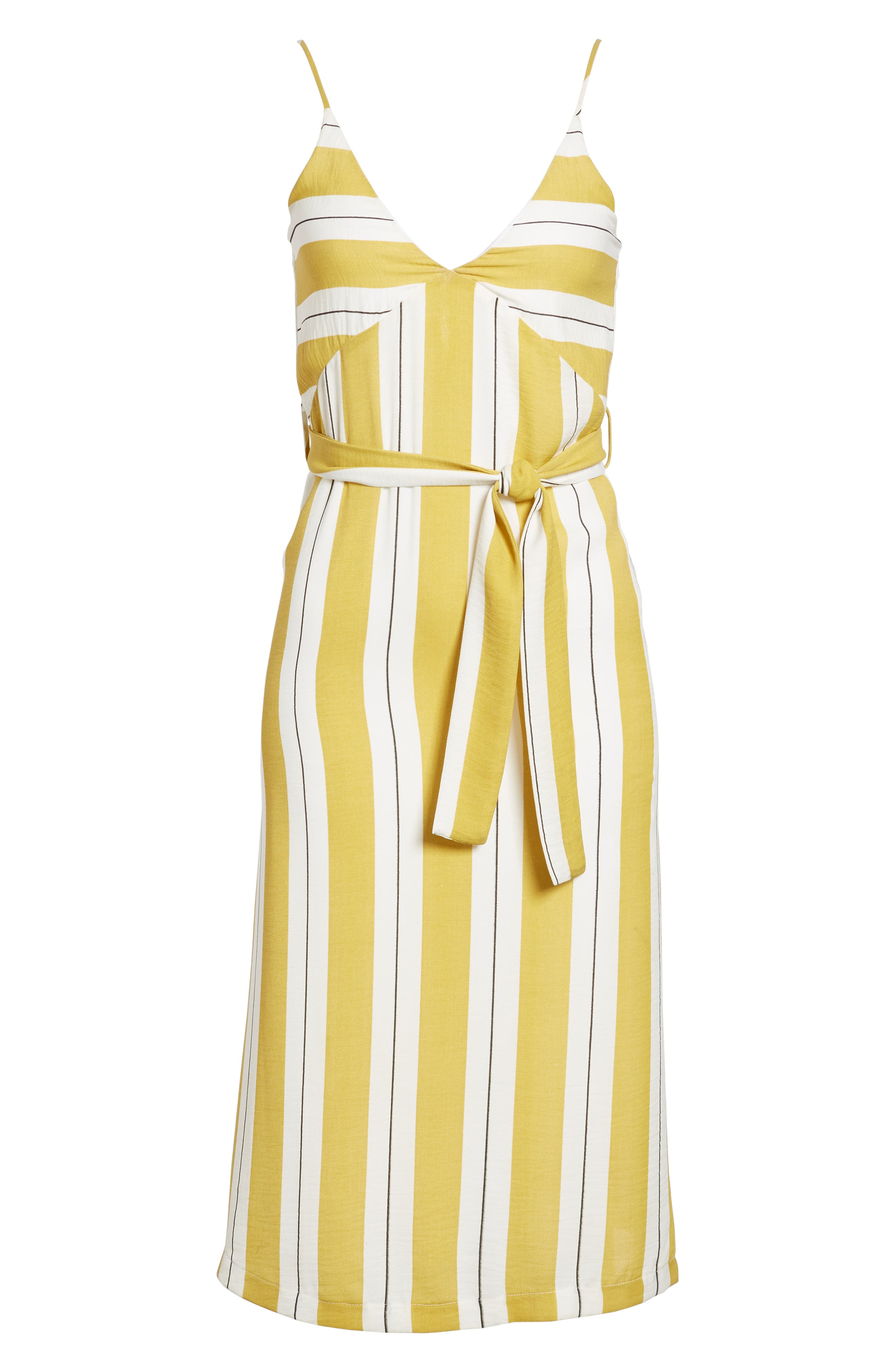Stripe Midi Dress,                             Alternate thumbnail 8, color,                             Yellow Stripe Per Sample