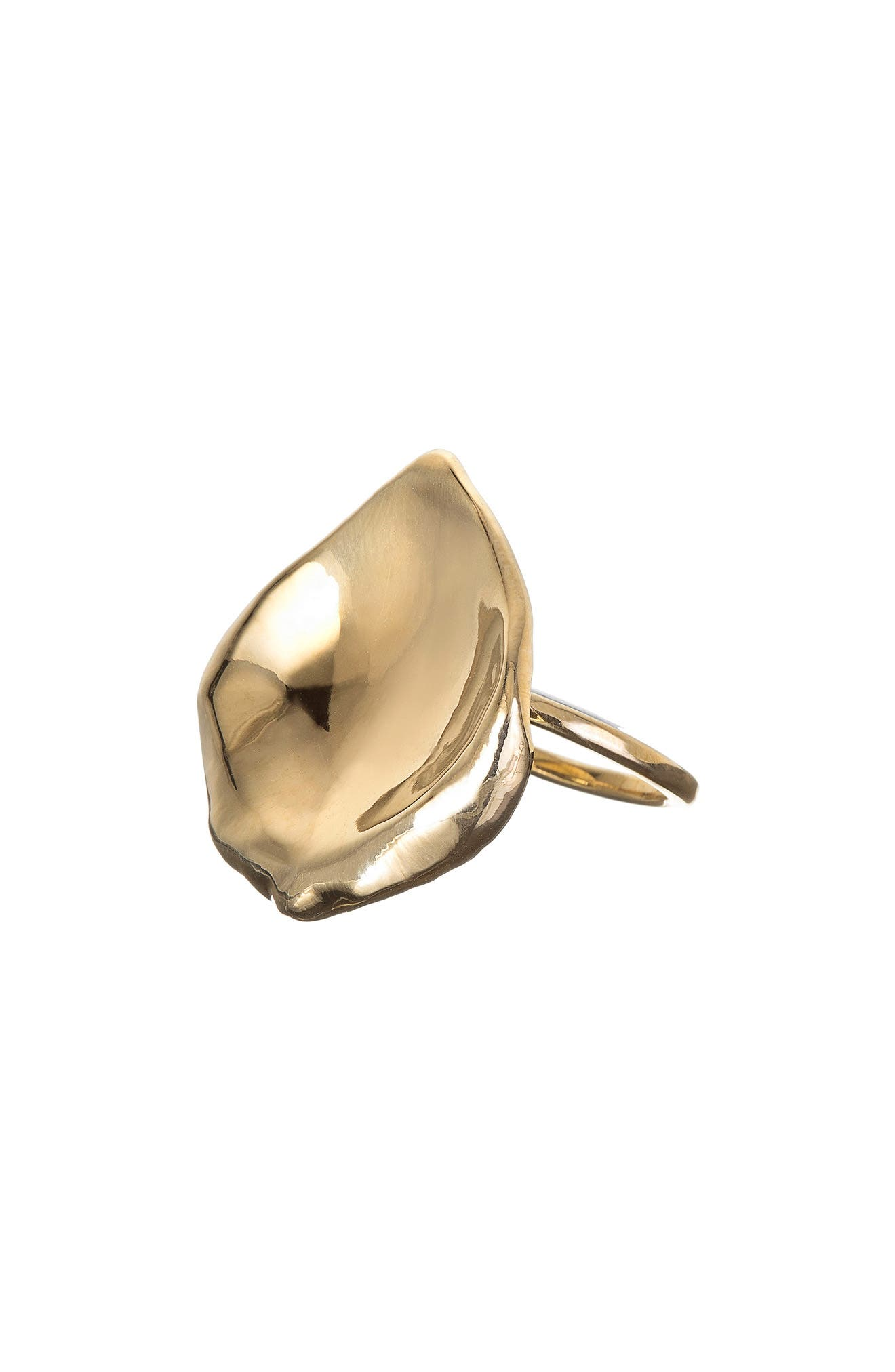 NORA KOGAN Rose Petal Ring in Gold Vermeil
