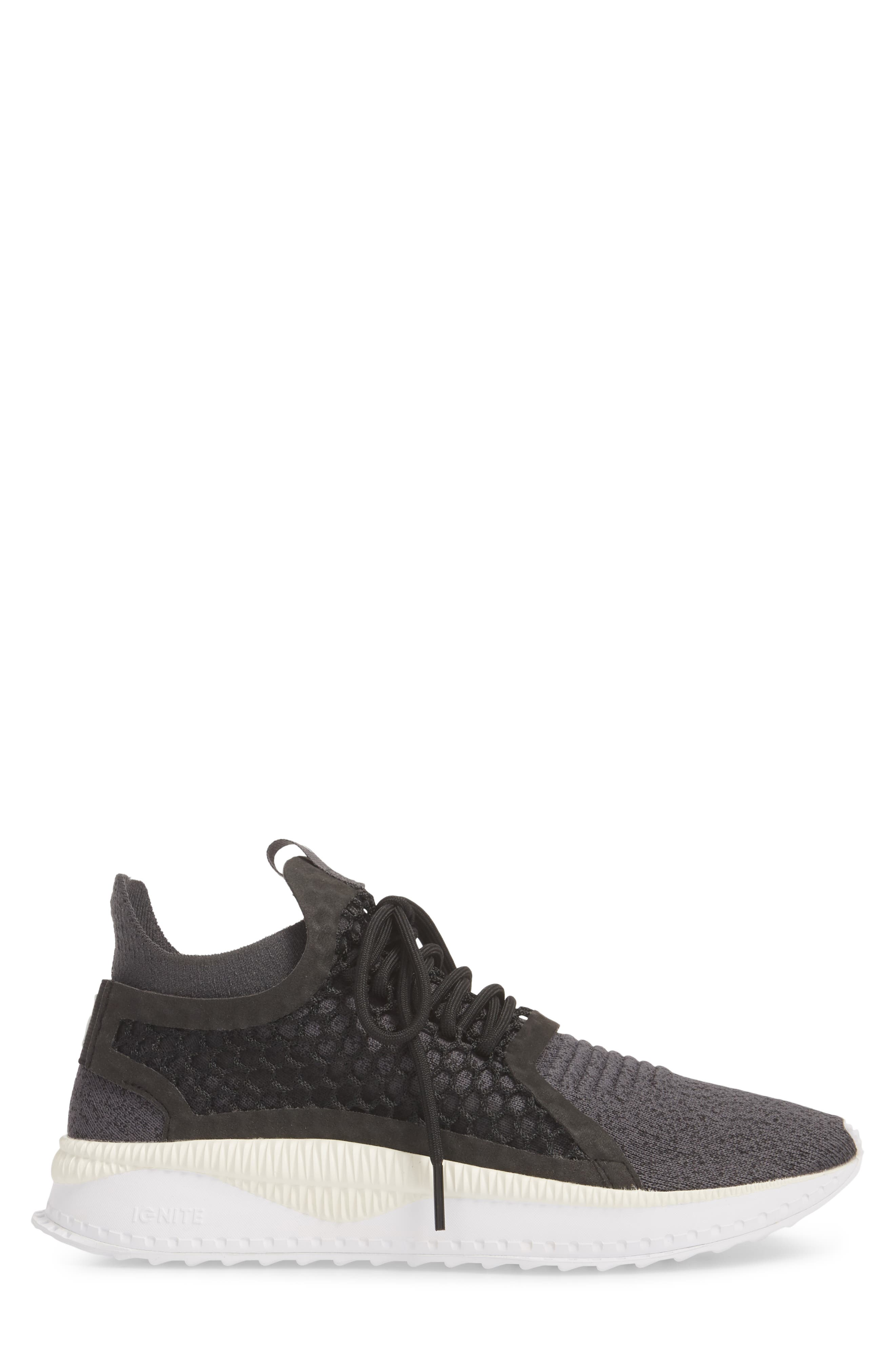 Tsugi Netfit V2 EvoKNIT Sneaker,                             Alternate thumbnail 5, color,                             Black/ Asphalt/ White