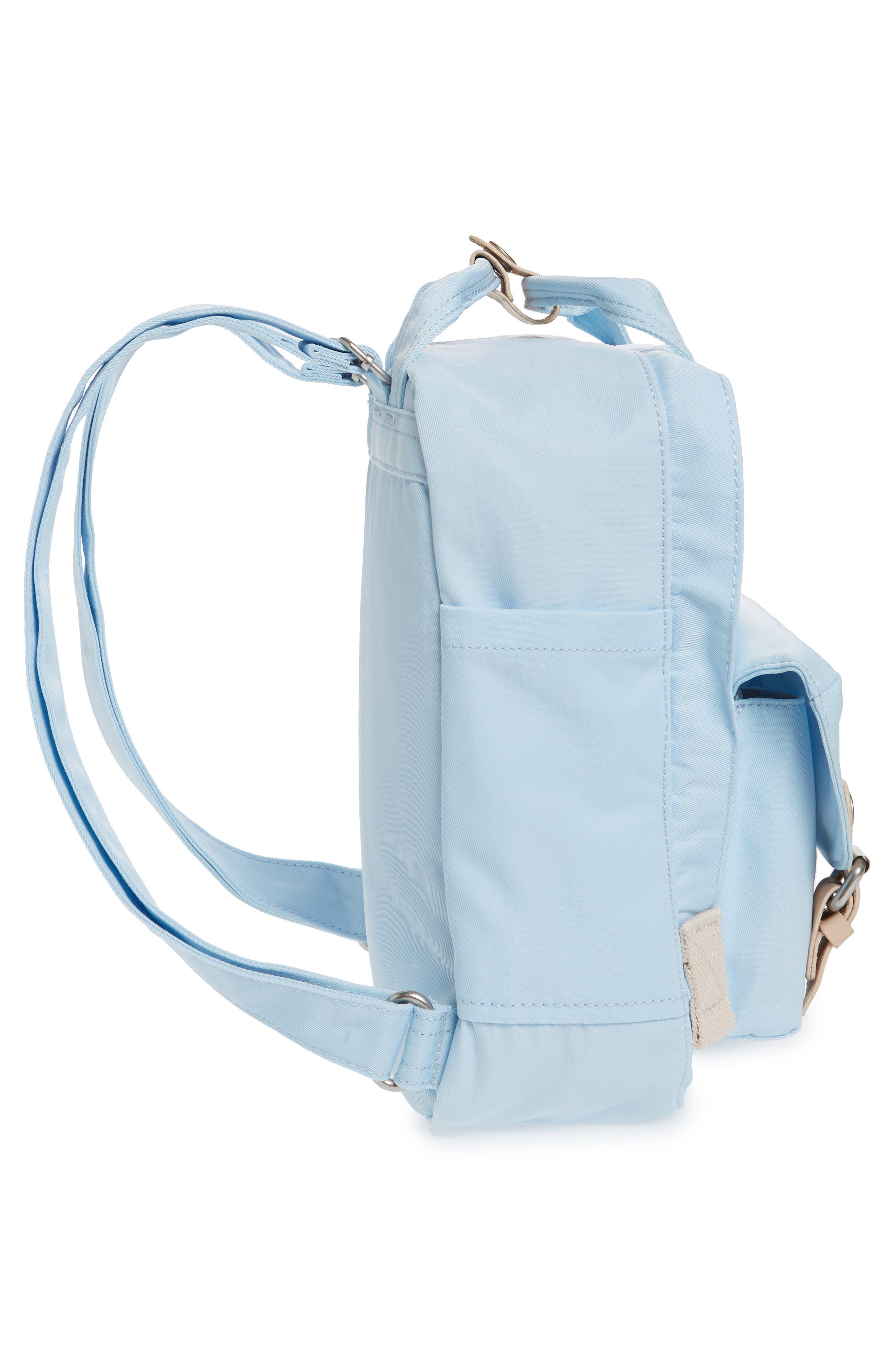 Mini Macaroon Water Resistant Backpack,                             Alternate thumbnail 5, color,                             Iceberg
