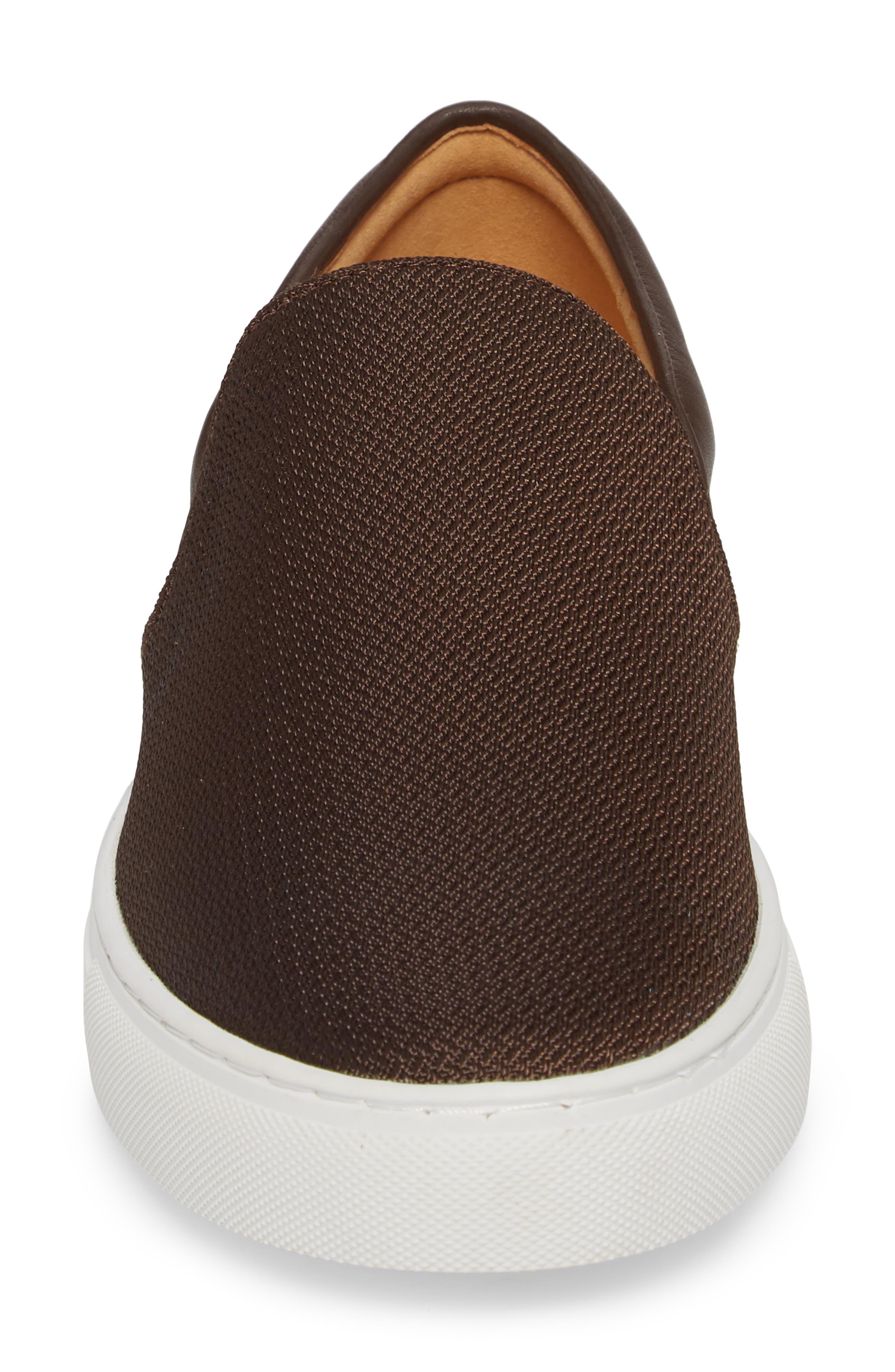 Albin Raffia Slip-On Sneaker,                             Alternate thumbnail 6, color,                             Espresso