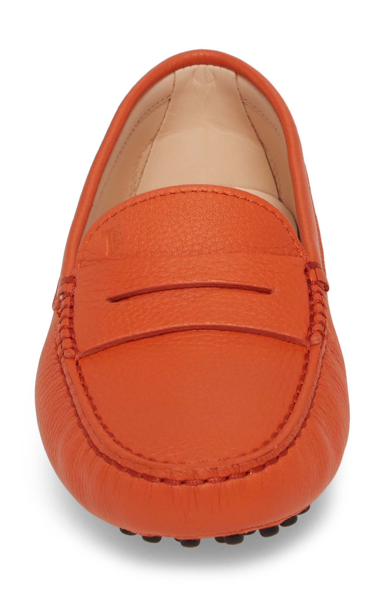 'Gommini' Driving Moccasin,                             Alternate thumbnail 6, color,                             Orange Brick