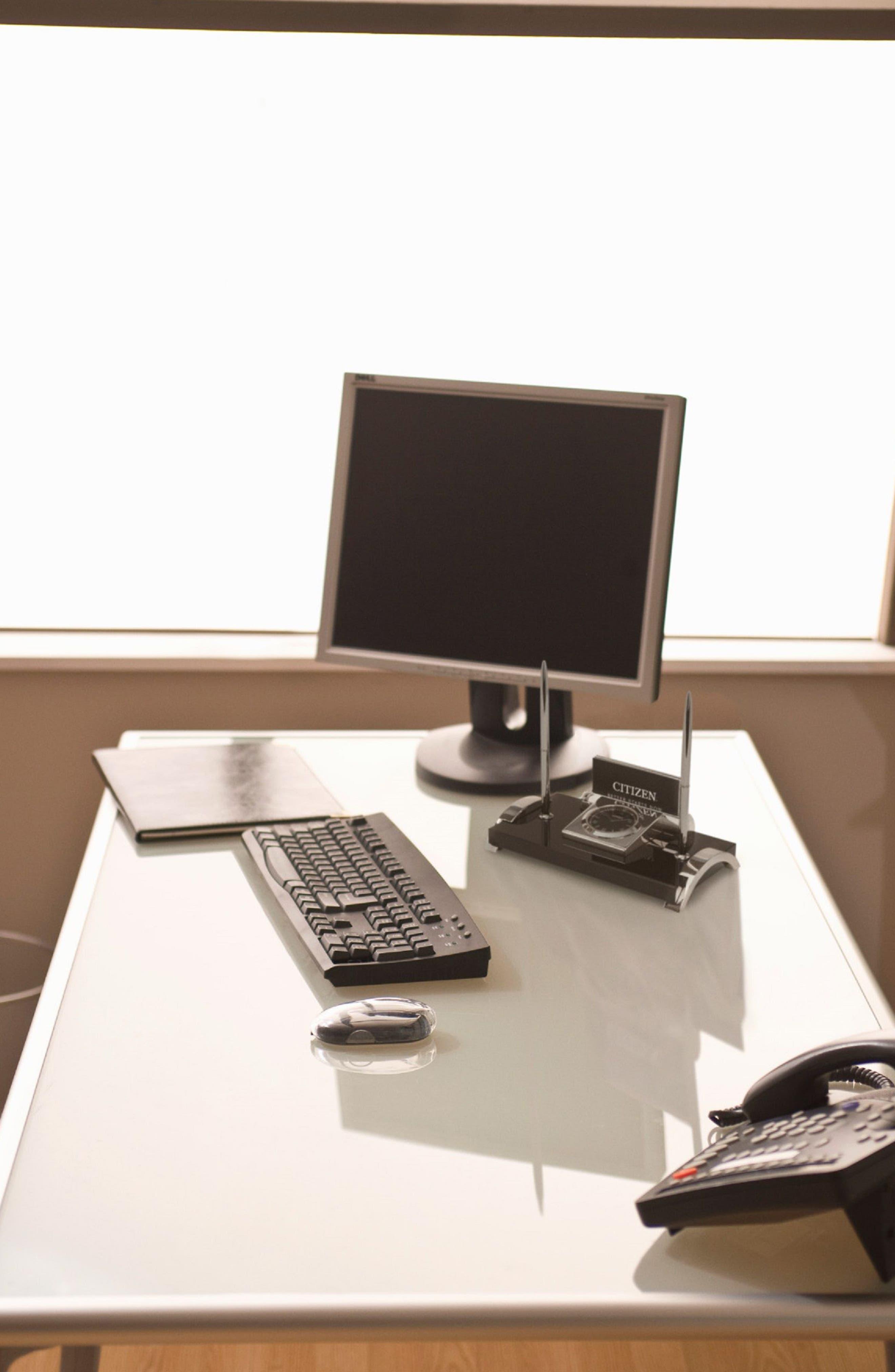 Executive Suite Desk Clock,                             Alternate thumbnail 2, color,                             Black