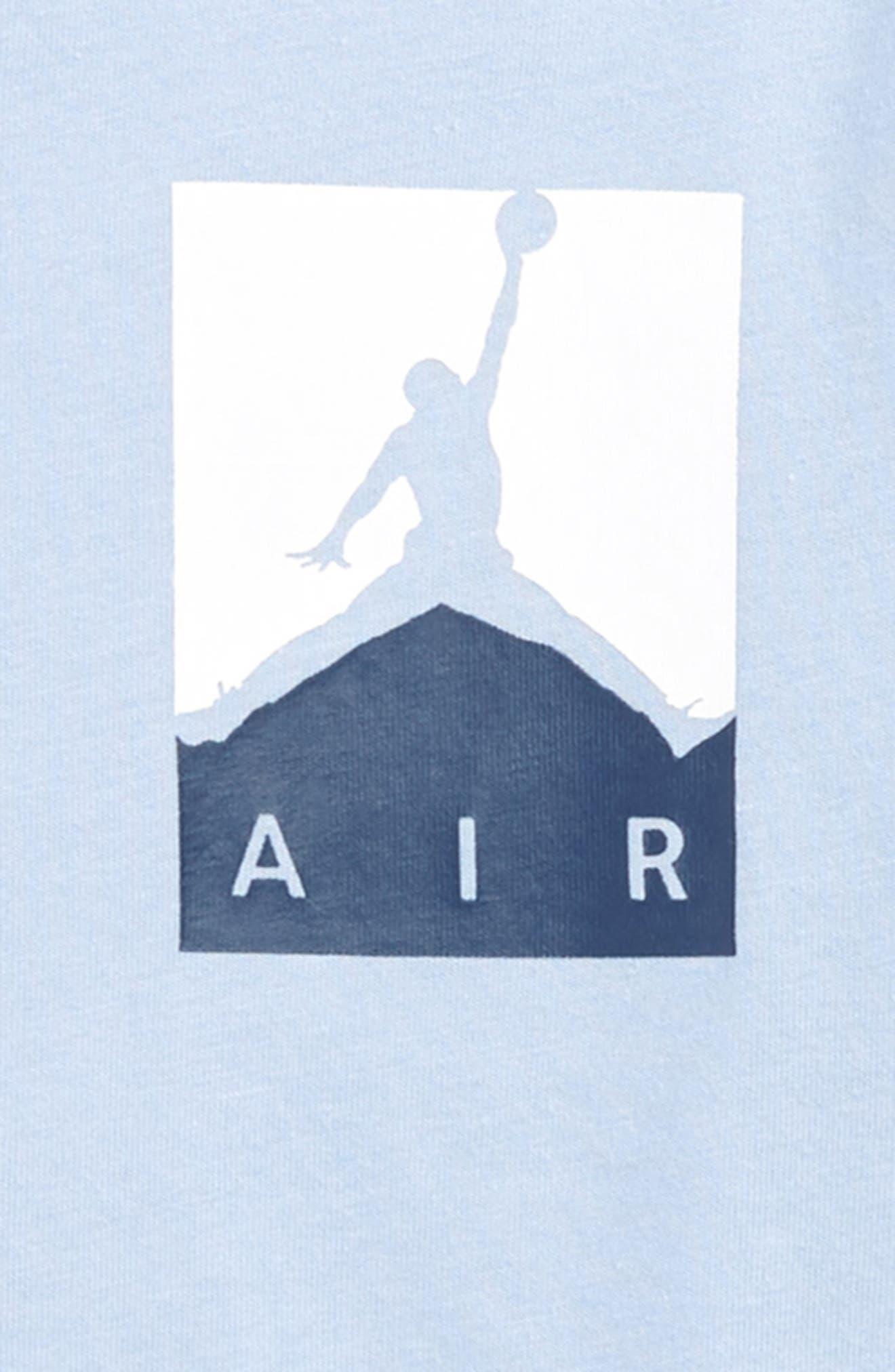 Nike Jordan Racked Up Graphic T-Shirt,                             Alternate thumbnail 3, color,                             Cobalt Bliss