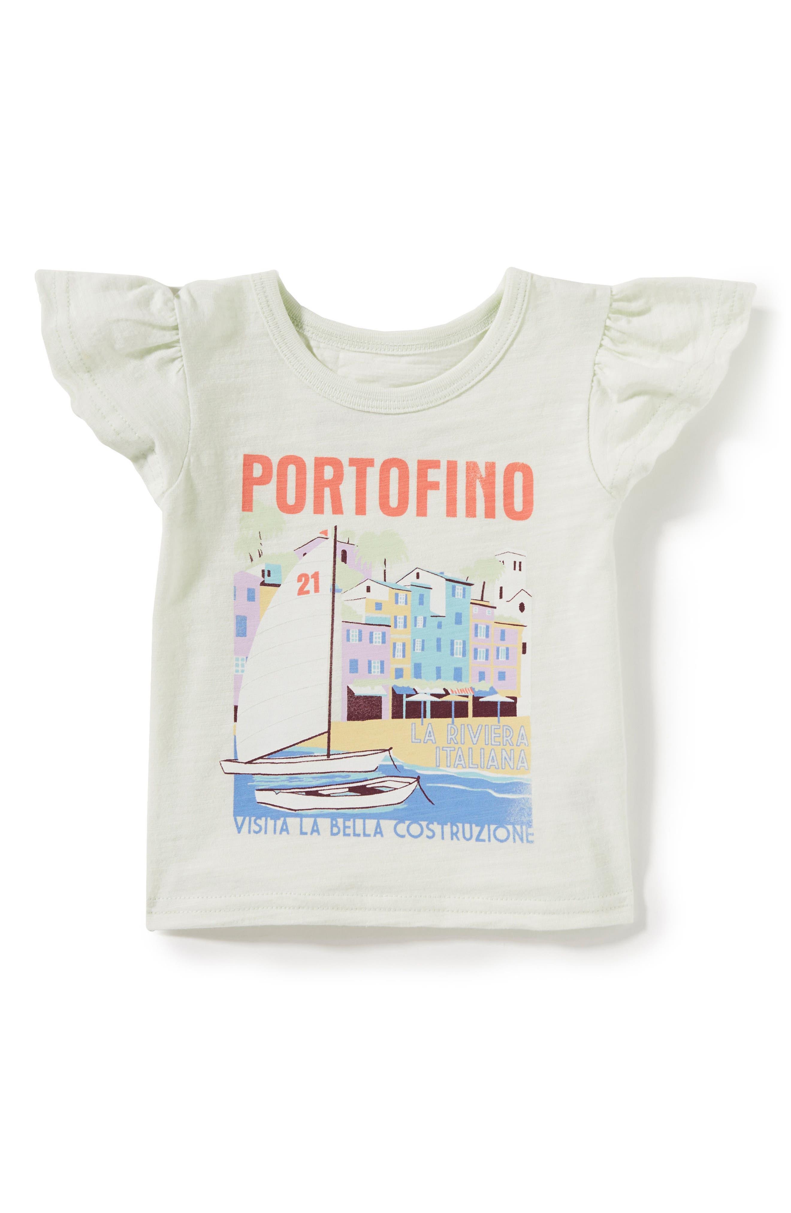Portofino Ruffle Tee,                         Main,                         color, Mint