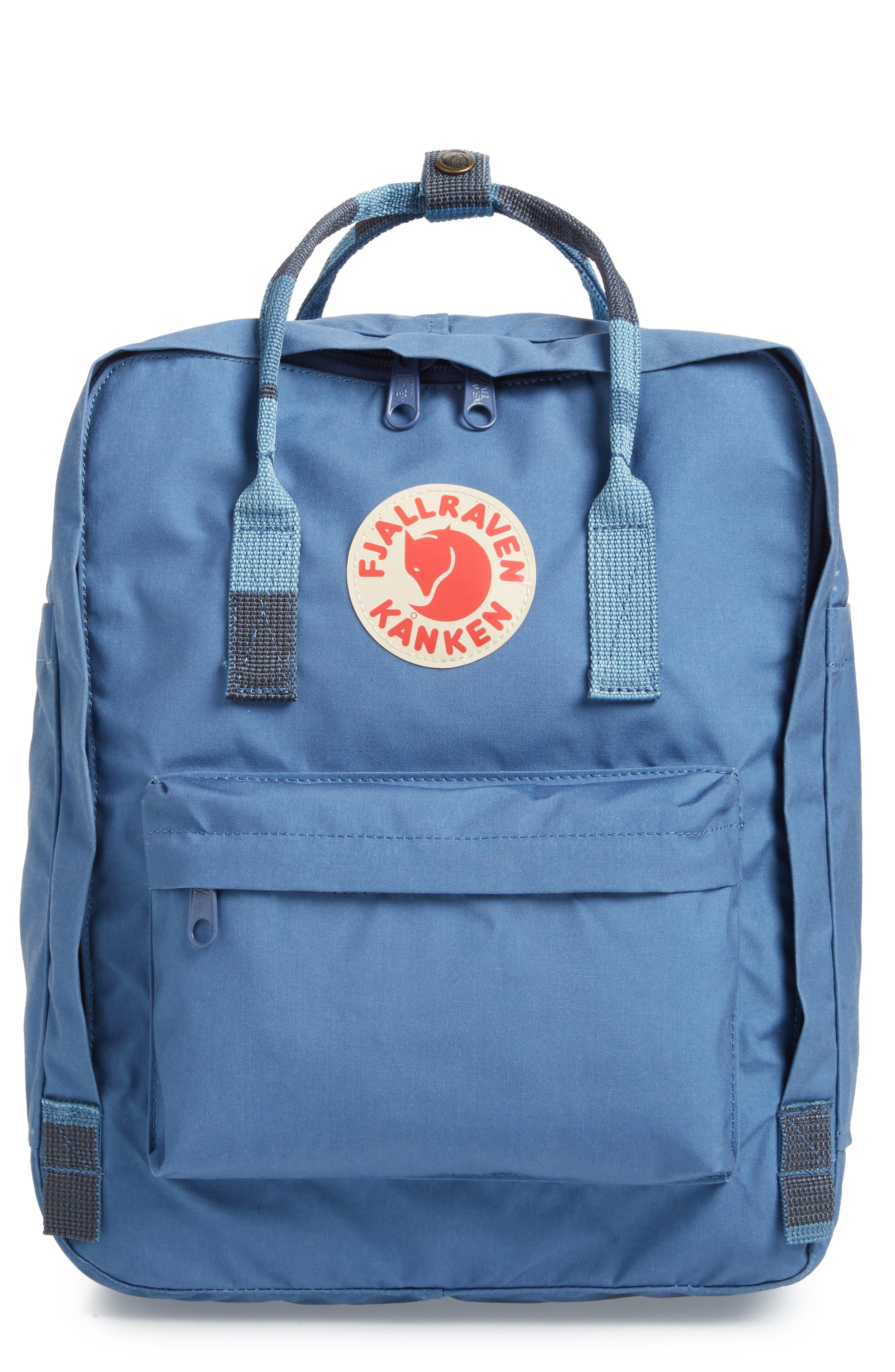 'Kånken' Water Resistant Backpack,                             Main thumbnail 1, color,                             Blue Ridge/ Random Blocked