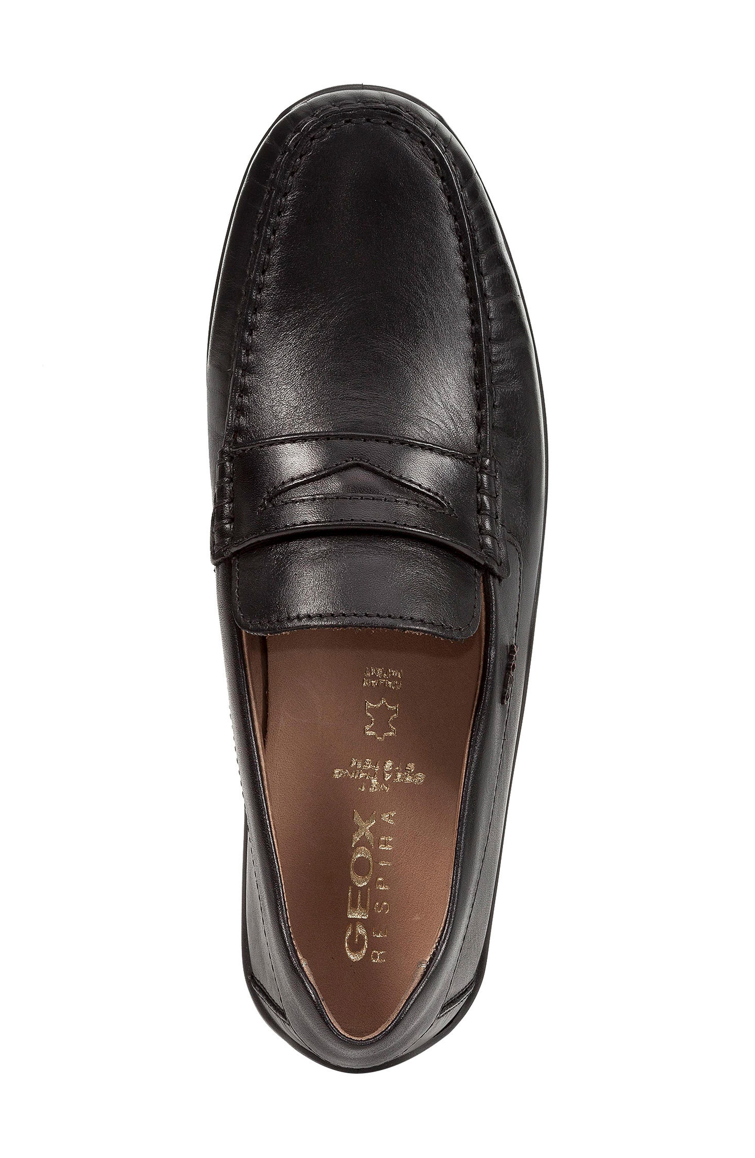 Xense Penny Loafer,                             Alternate thumbnail 6, color,                             Black Leather