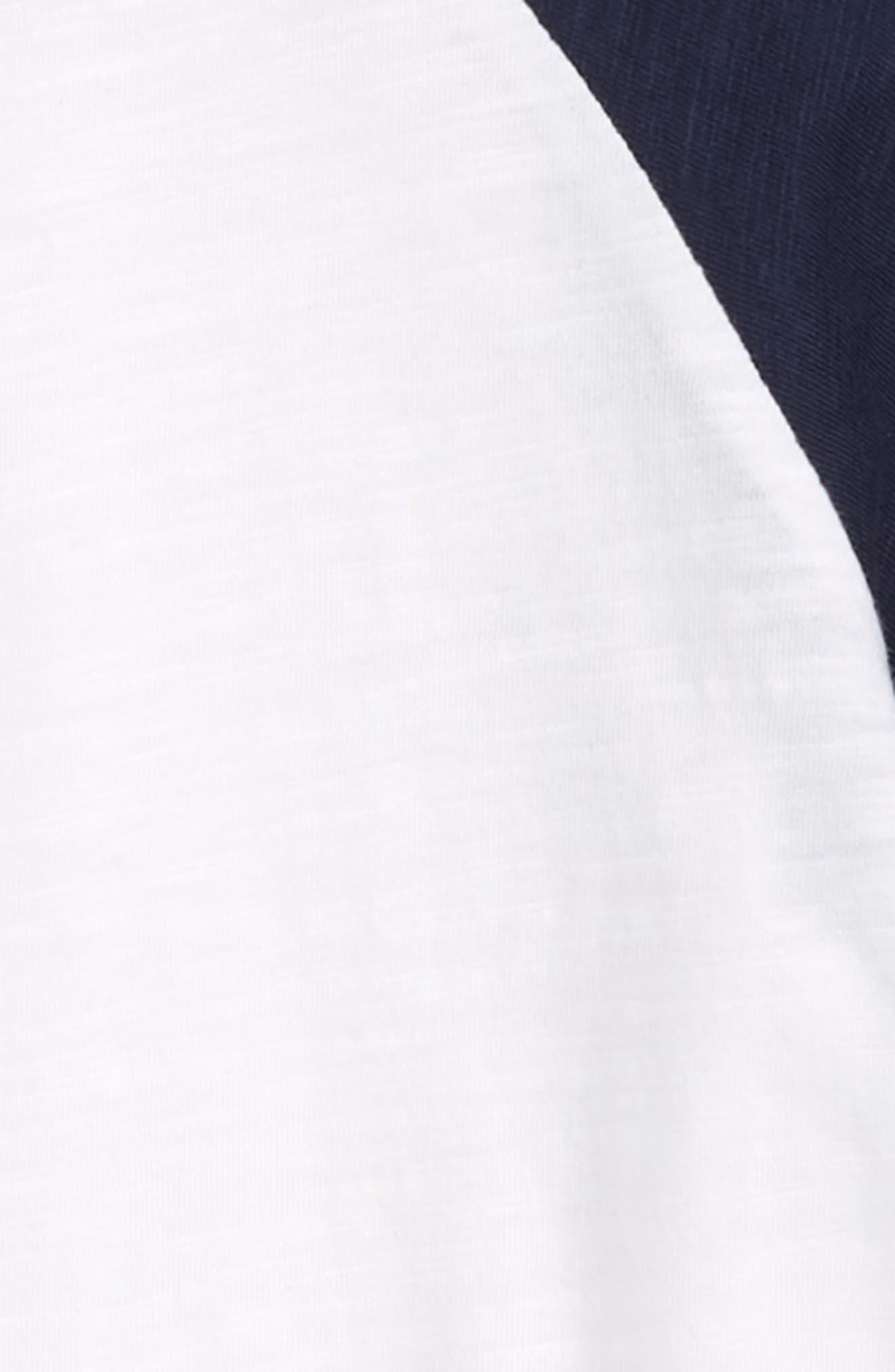 Little Slugger Organic Cotton T-Shirt,                             Alternate thumbnail 2, color,                             Navy/ White