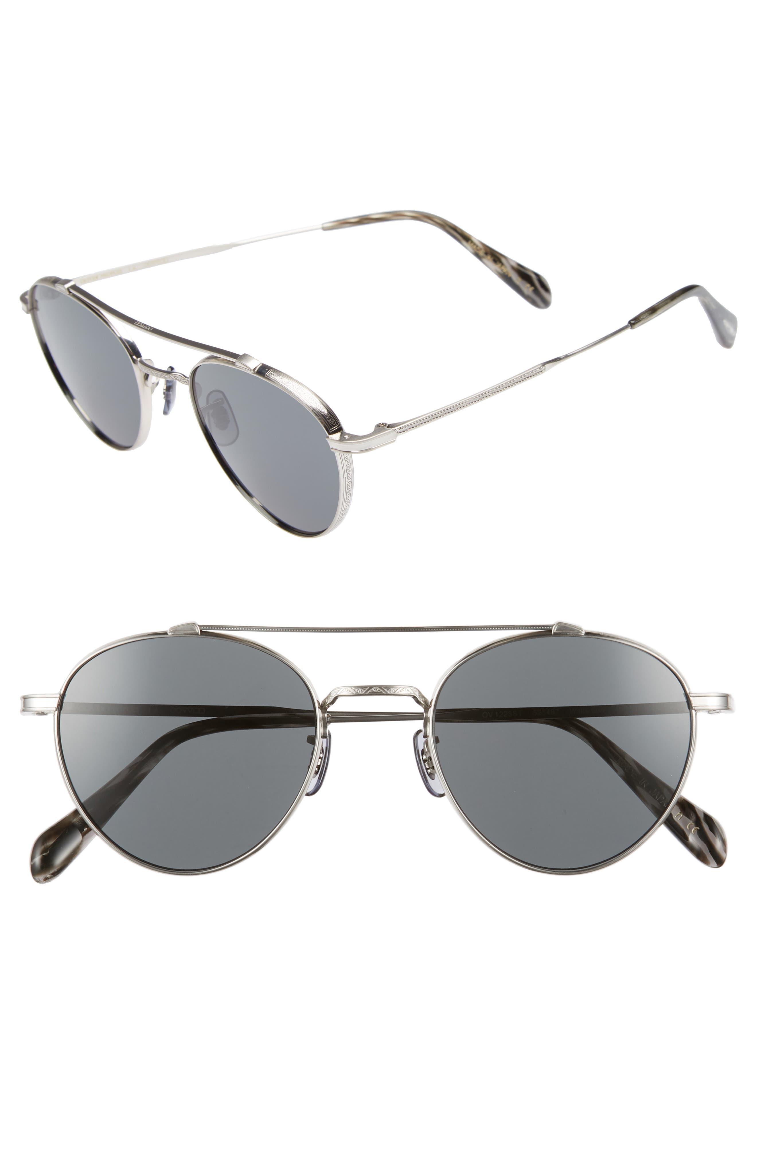 Watts 49mm Round Sunglasses,                             Main thumbnail 1, color,                             Grey
