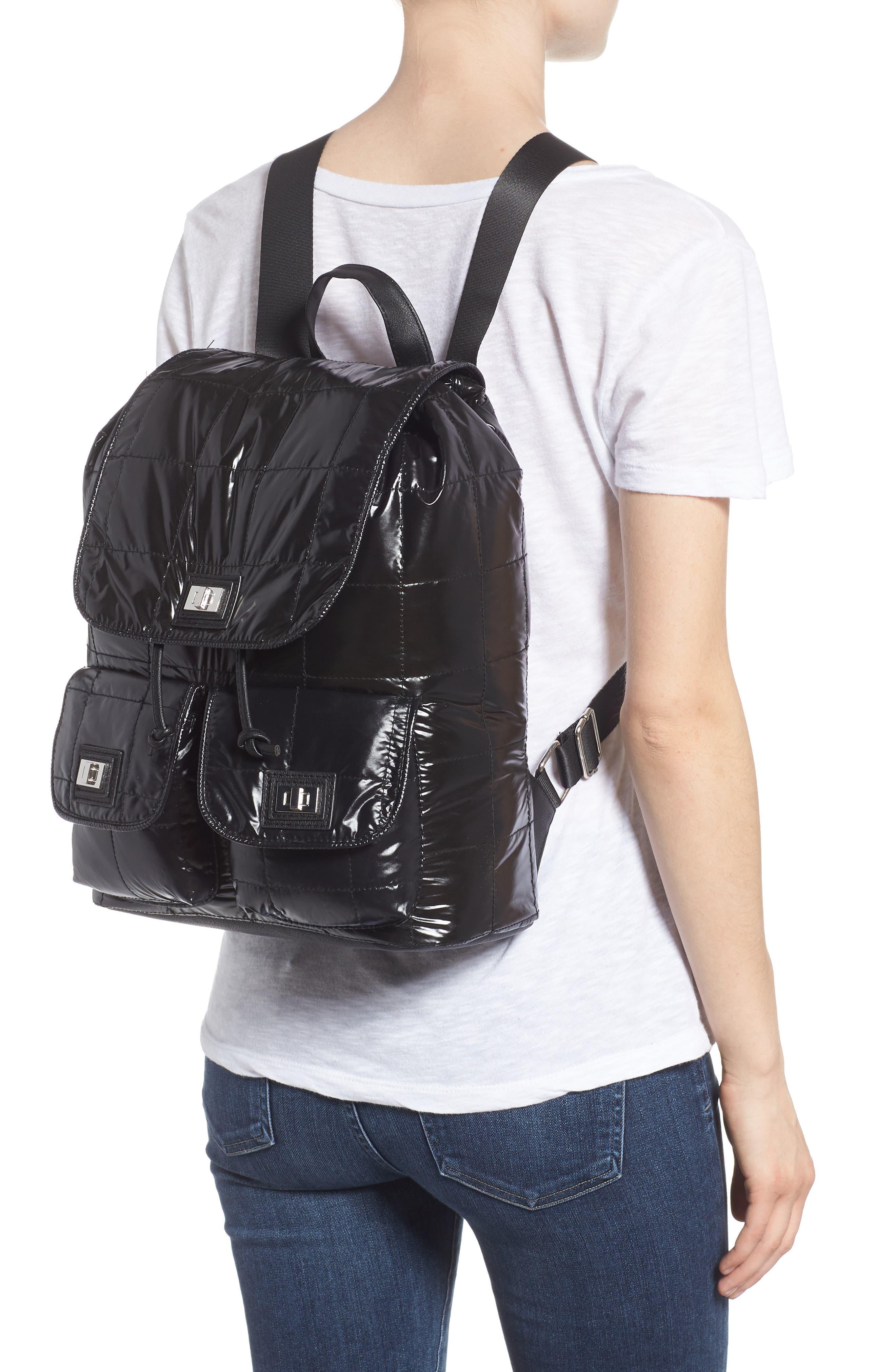 Puffer Backpack,                             Alternate thumbnail 2, color,                             Black