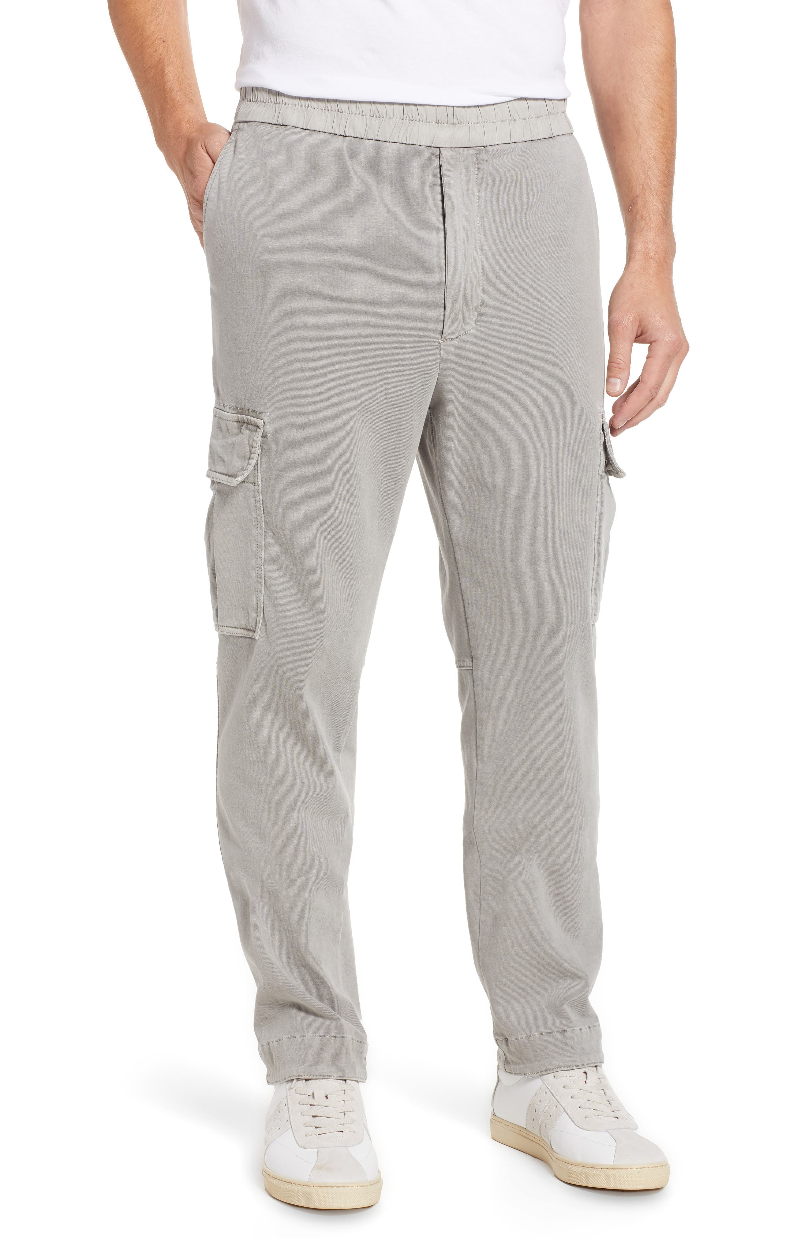 Cotton Jersey Relaxed Fit Cargo Pants,                             Main thumbnail 1, color,                             Paver Pigment