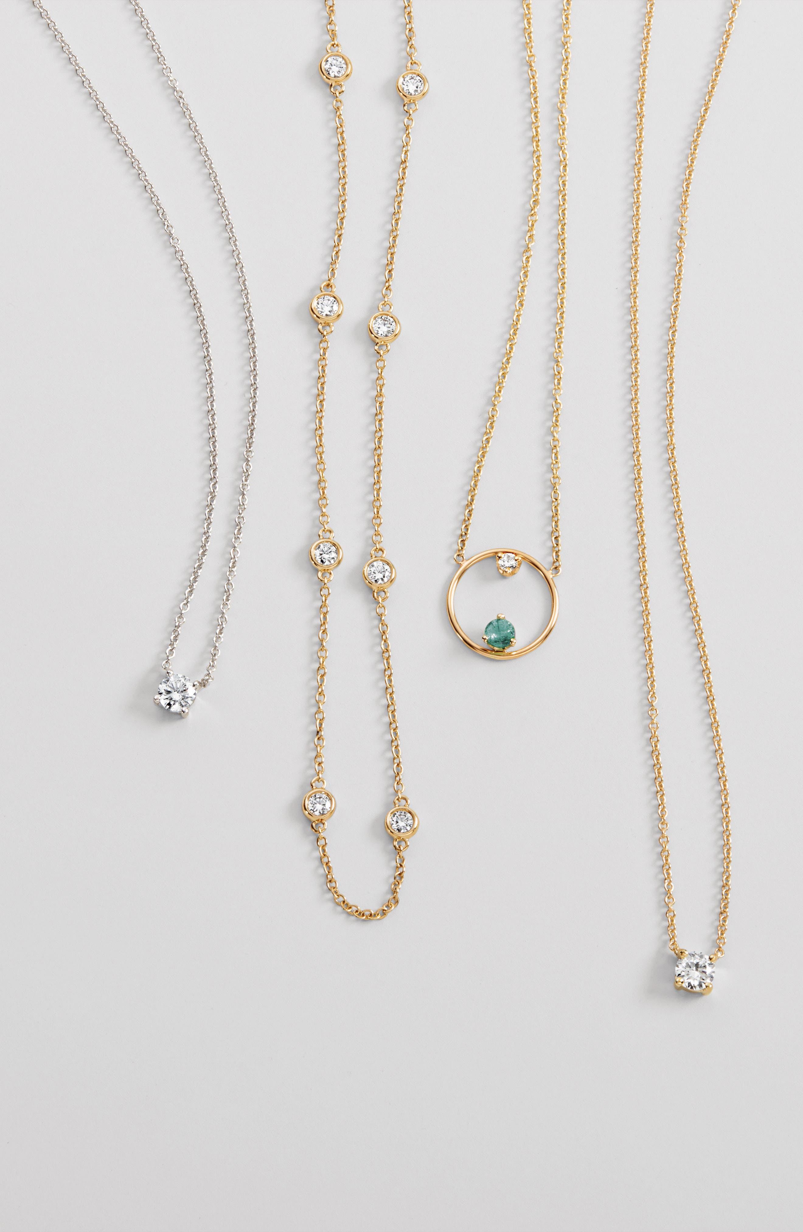 Liora Solitaire Diamond Pendant Necklace,                             Alternate thumbnail 3, color,