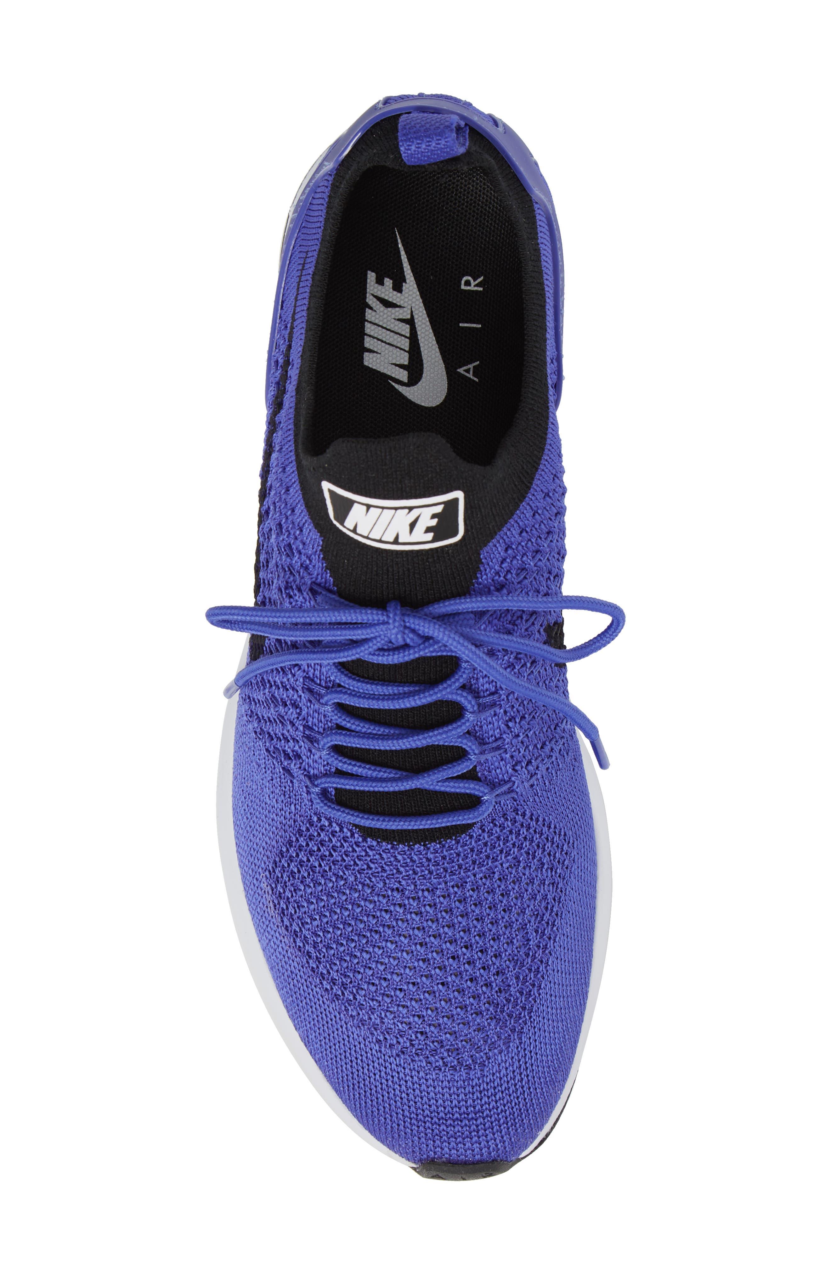 Air Zoom Mariah Flyknit Racer Sneaker,                             Alternate thumbnail 5, color,                             Violet/ Black/ White