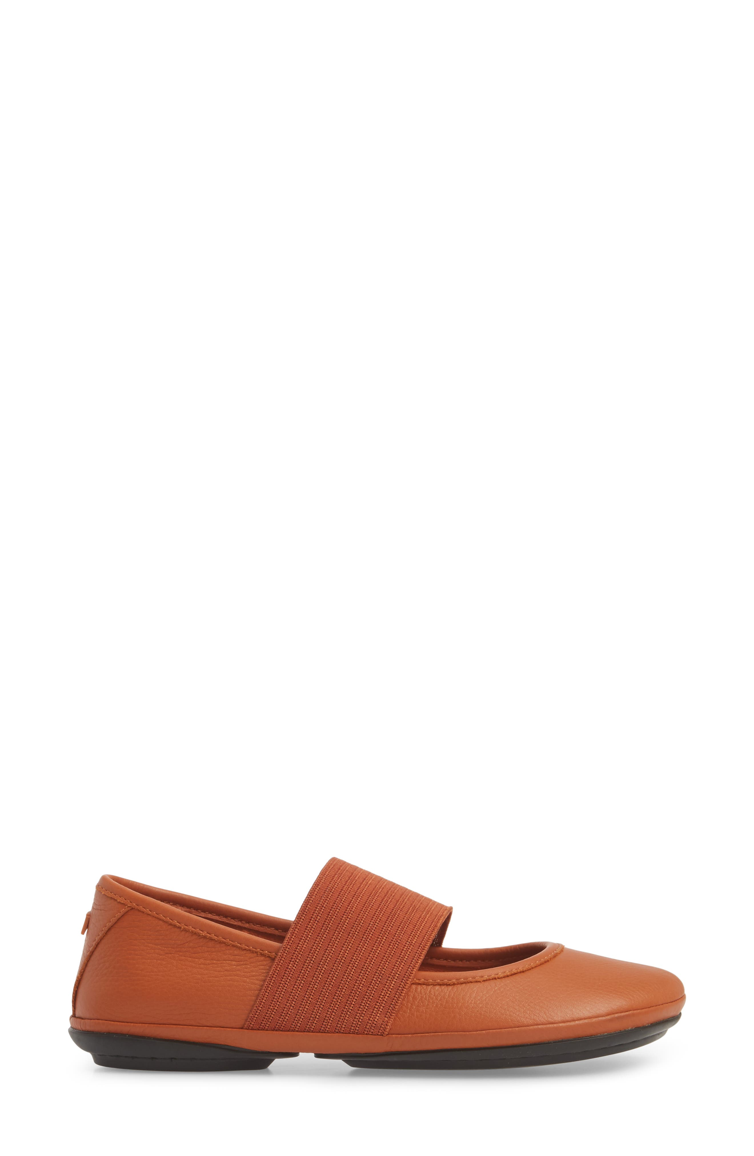 Right Nina Ballet Flat,                             Alternate thumbnail 5, color,                             Rust/Copper Leather