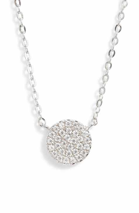39a39a64b Nordstrom Pavé Disc Pendant Necklace. Sale:$24.90