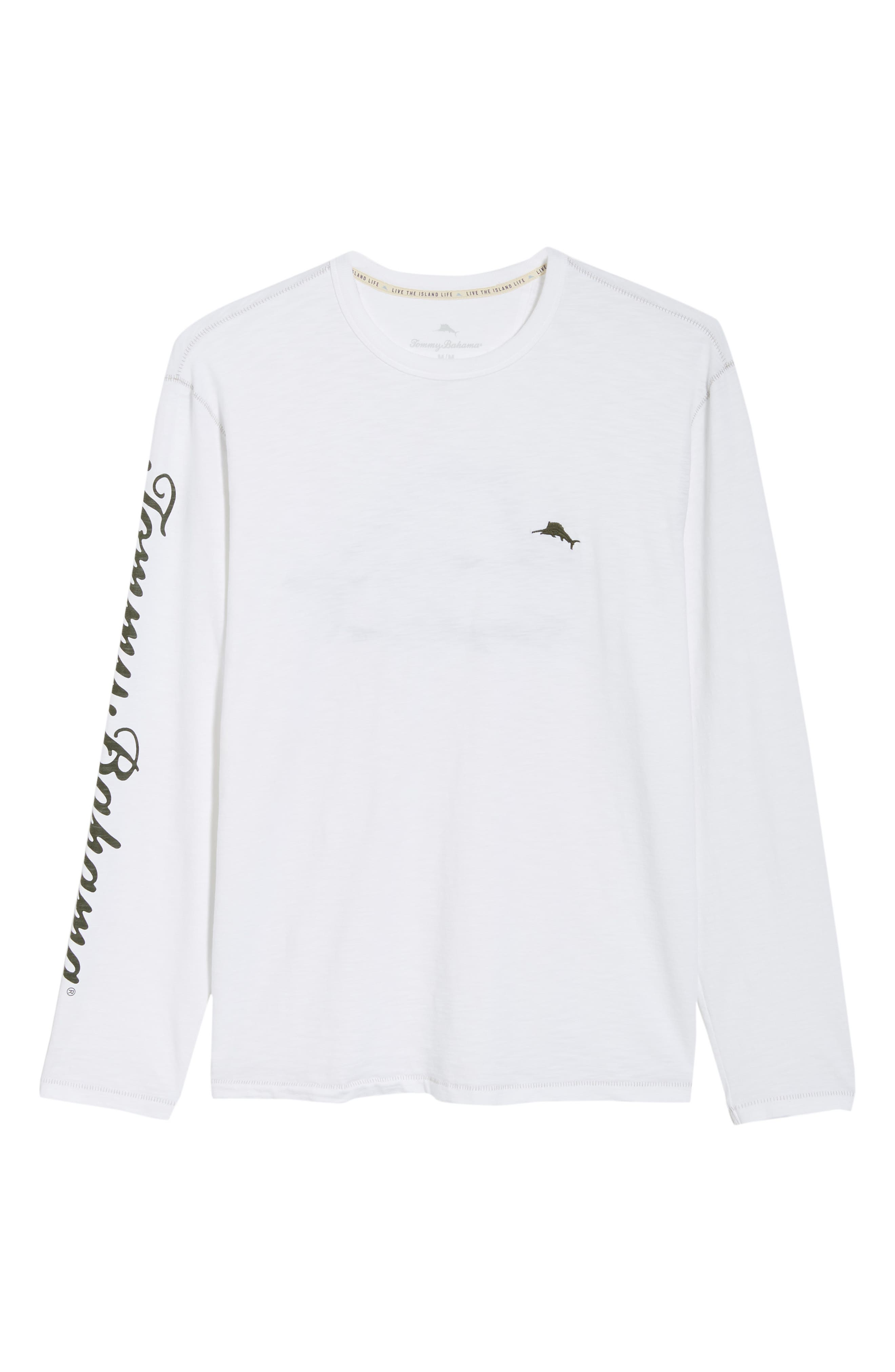 Palm Billboard Marlin Lux Long Sleeve T-Shirt,                             Alternate thumbnail 4, color,                             White